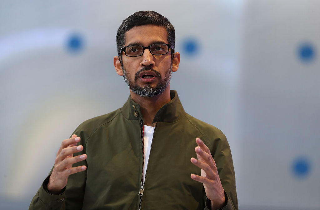Google CEO Sundar Pichai has said he understands employees anger and frustration over recent sexual misconduct allegations. (Photo by Justin Sullivan/Getty Images)