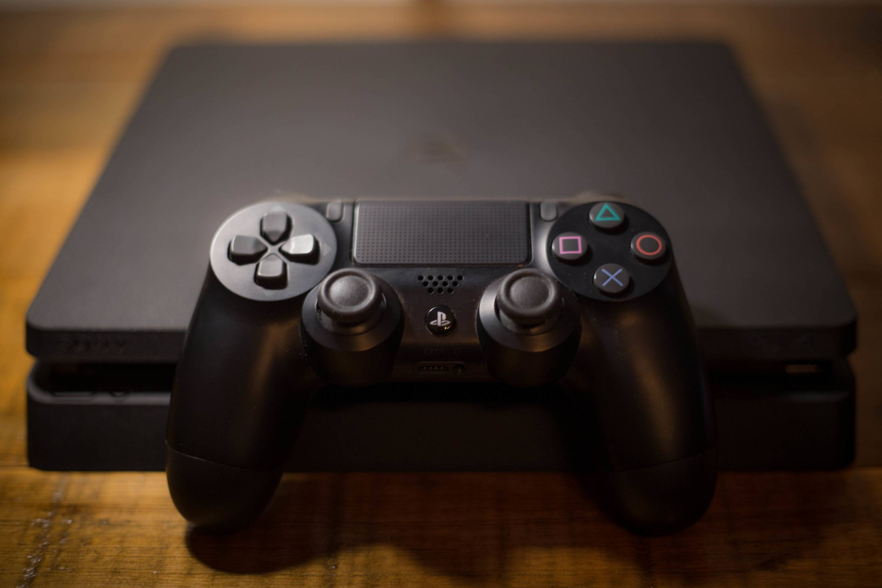 A Sony PlayStation 4 video game console