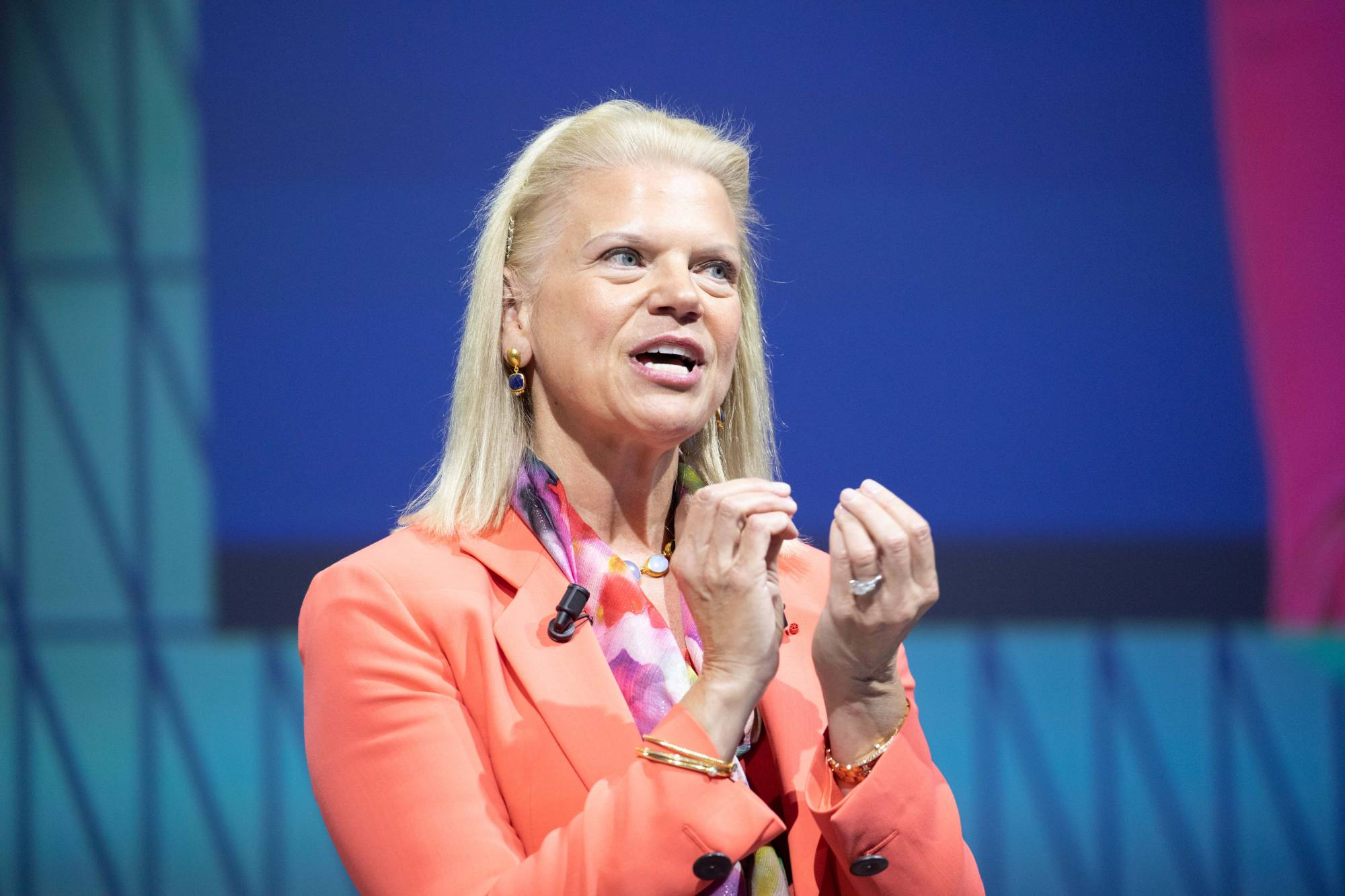Ginni Rometty, chief executive officer of International Business Machines Corp. IBM plans to buy Red Hat for $34 billion.