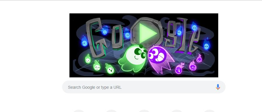 Google Doodle Halloween 2018 The Great Ghoul Duel