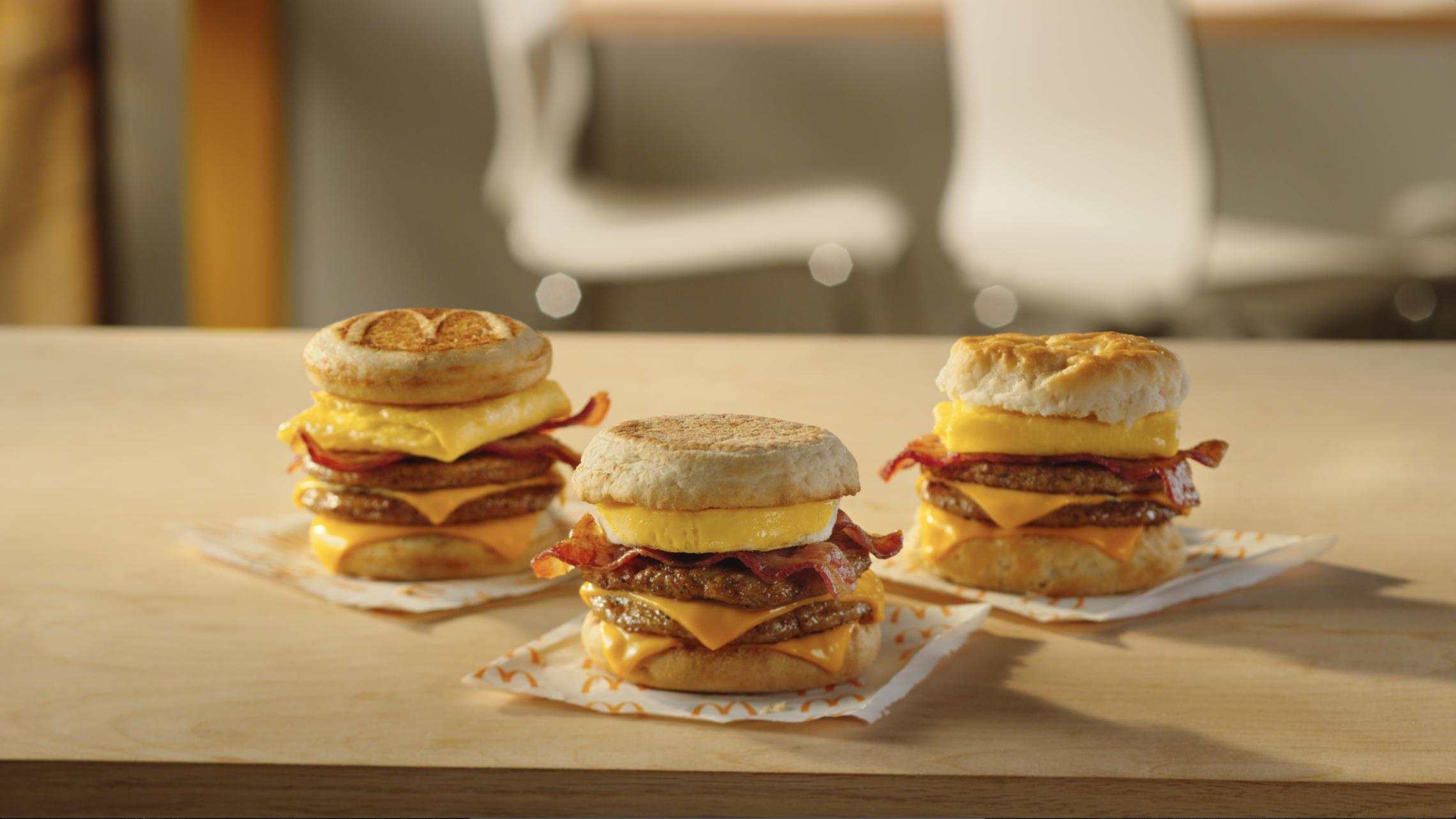 McDonald's Triple Breakfast Stack