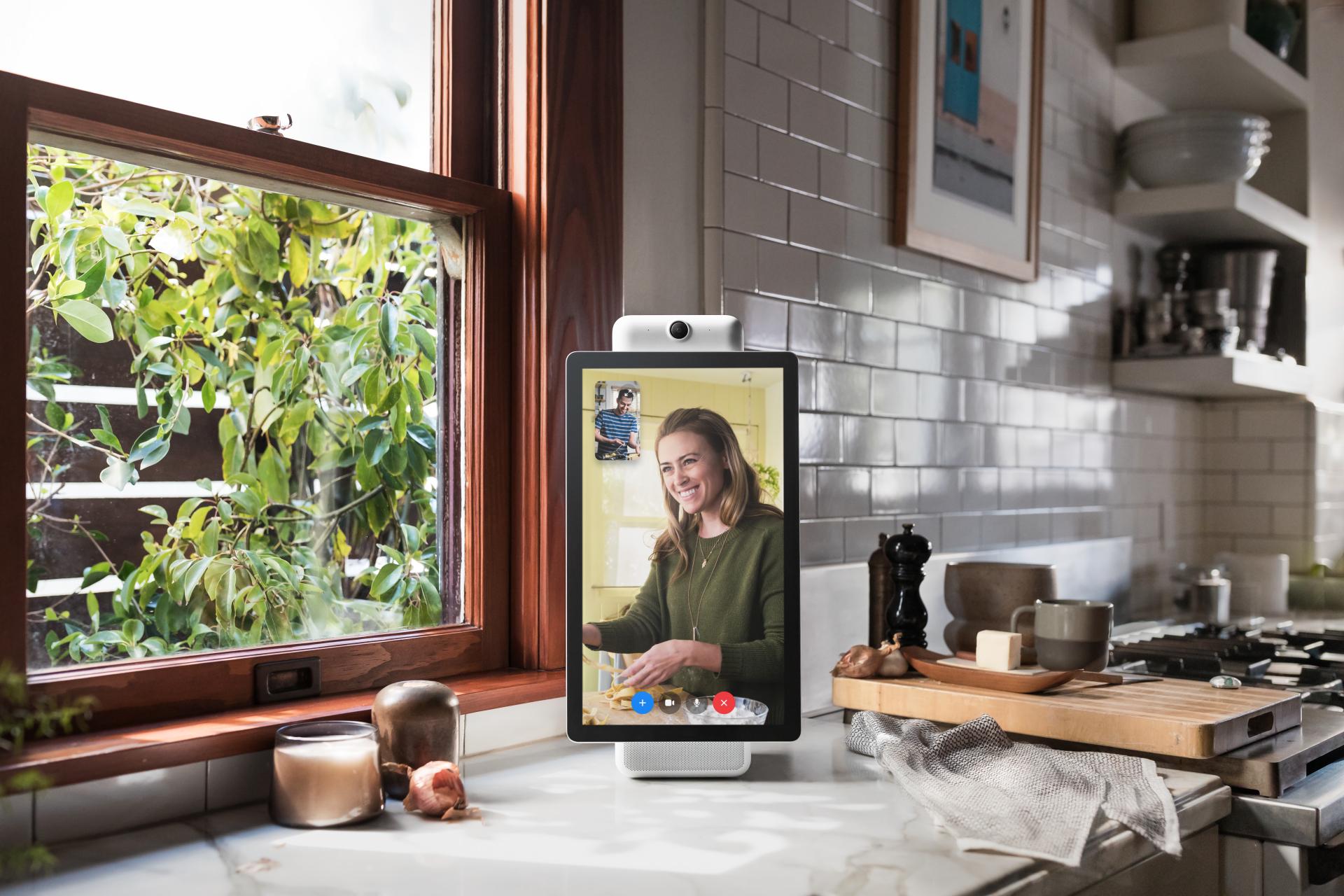 Facebook's Portal video screen.
