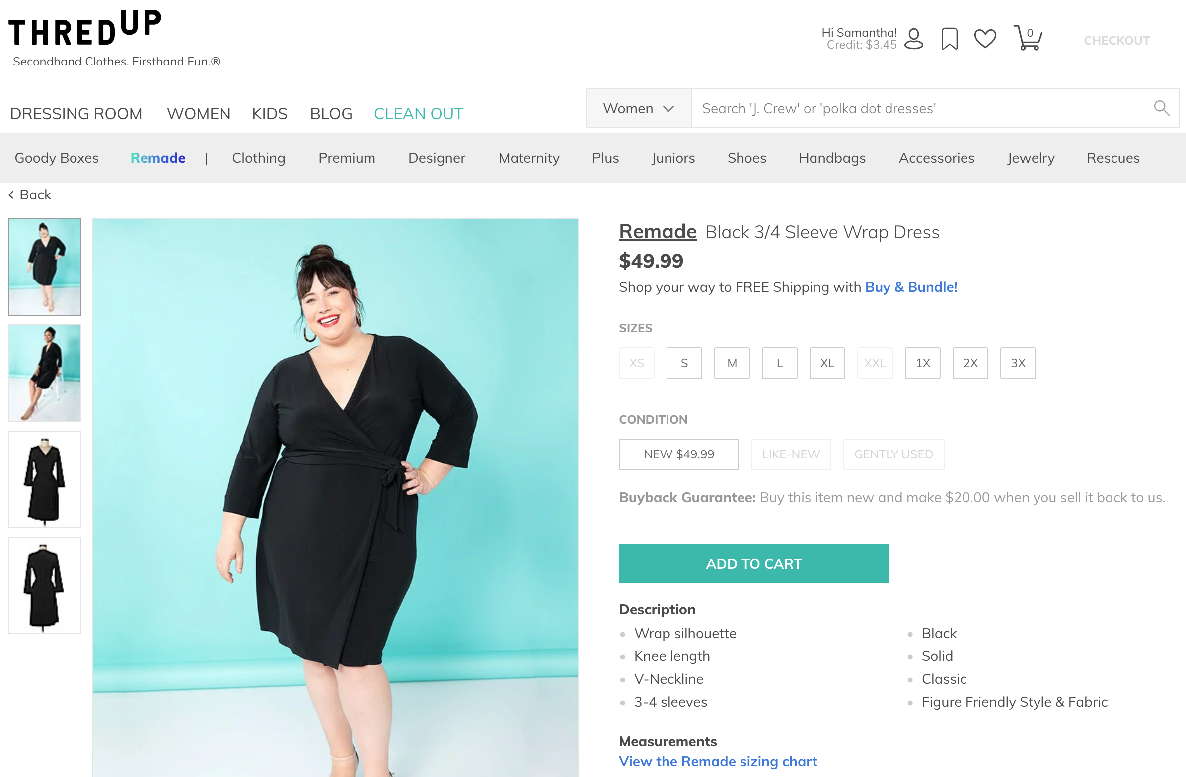 Online Thrift Store Clothes >> Thredup Launches Remade A Clothing Line Designed For Resale