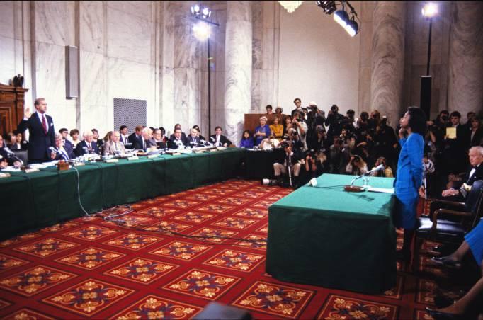 Anita Hill Testifies on Clarence Thomas Nomination, Washington DC, America - 11 Oct 1991