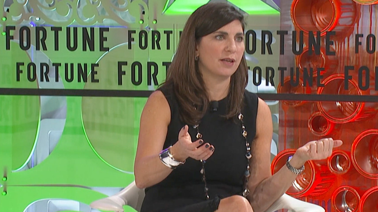 NYSE President Stacey Cunningham speaks at Fortune's Most Powerful Women conference in Laguna Niguel, Calif. on Oct. 2, 2018