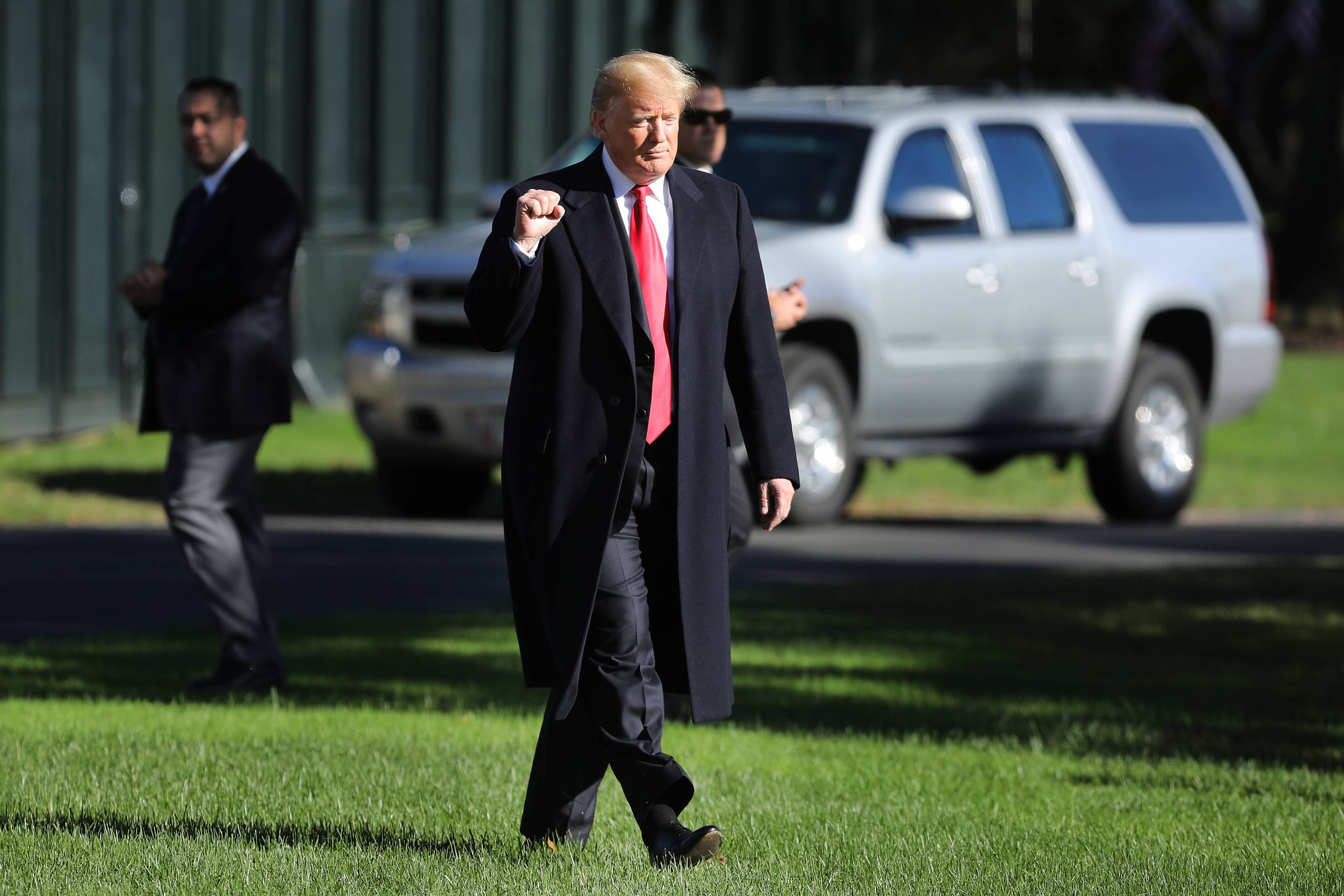 President Trump Departs The White House En Route To Rally In Montana