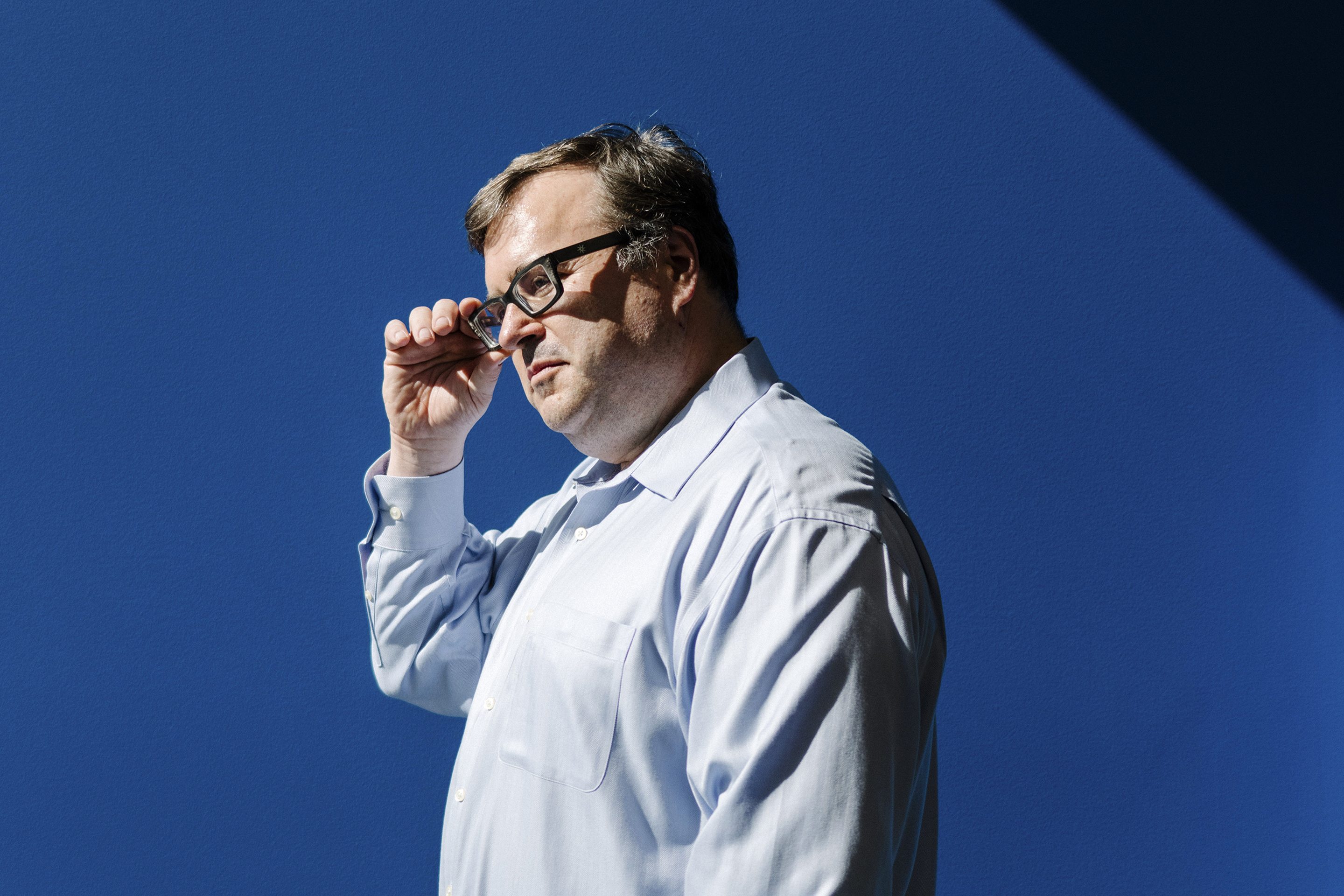 Reid Hoffman, who founded LinkedIn, at the company's offices in Sunnyvale, Calif.