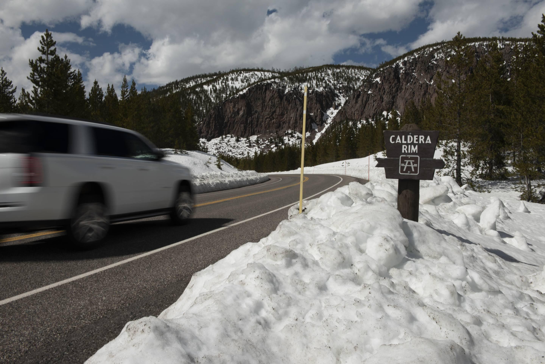 Snow at Yellowstone