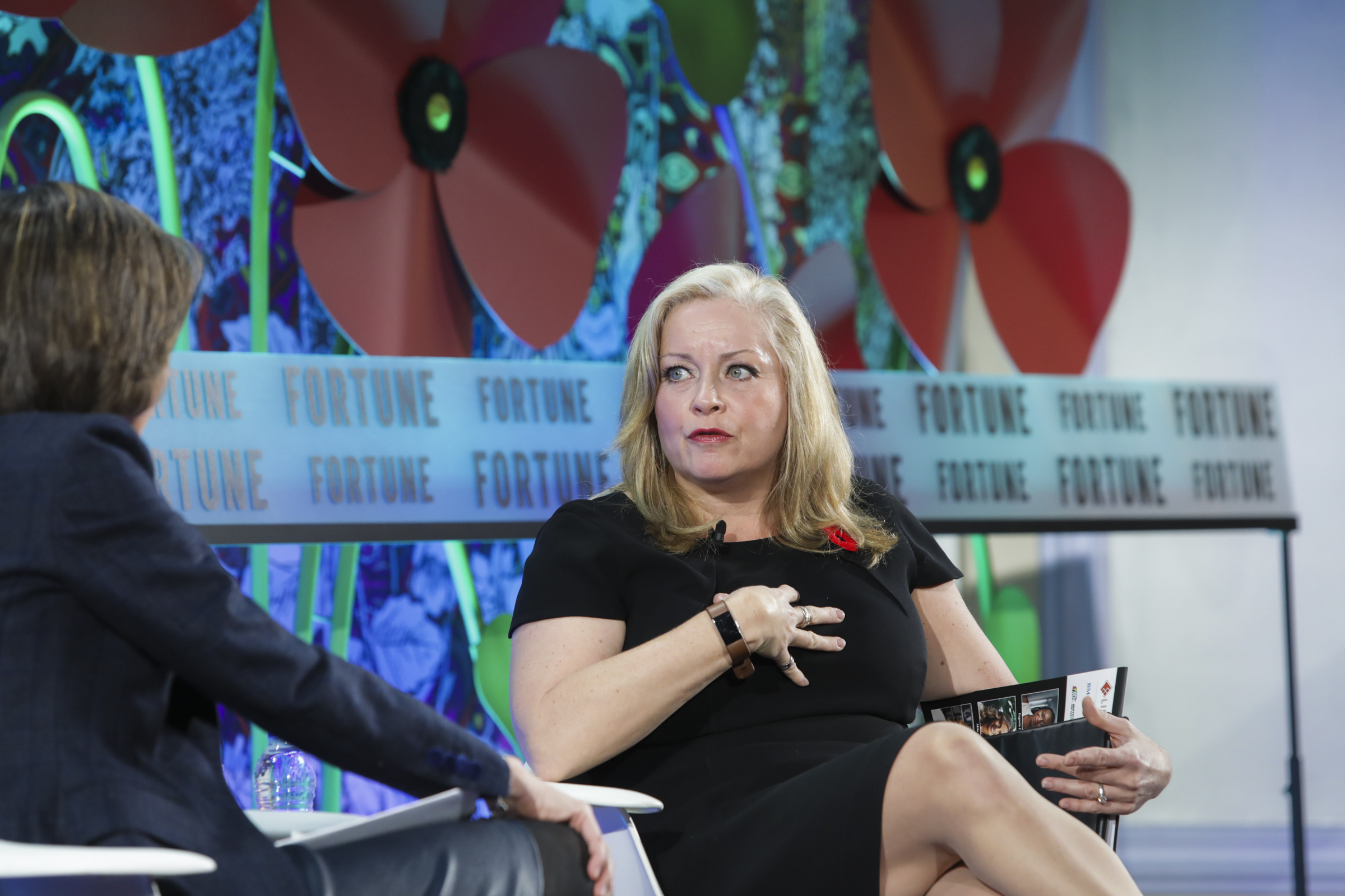 Linamar CEO Linda Hasenfratz speaks at Fortune Most Powerful Women International Summit in Montreal.