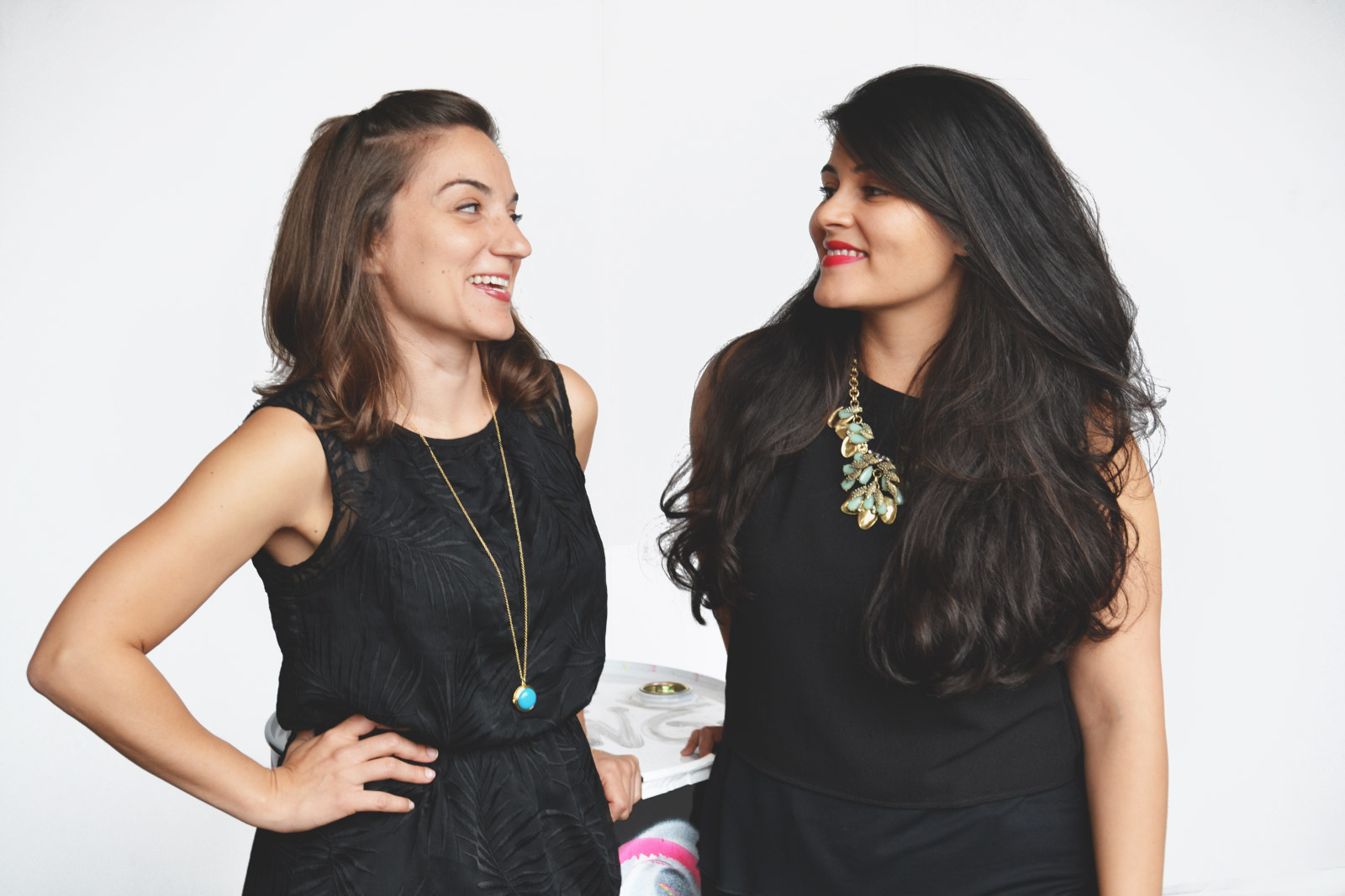 Dia&Co co-founders Lydia Gilbert, left, and Nadia Boujarwah. The company raised $40 million for plus-size fashion.