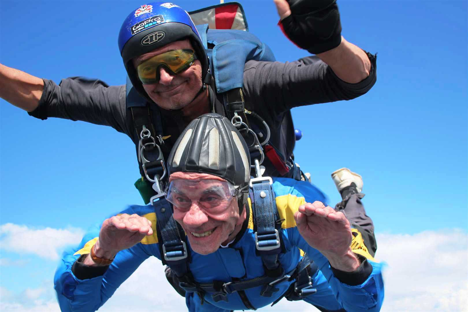 Elly Gotz skydives to celebrate Canada's 150th anniversary.