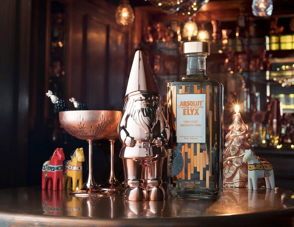 Elyx Gnome Shaker with Bottle Hat on Landscape