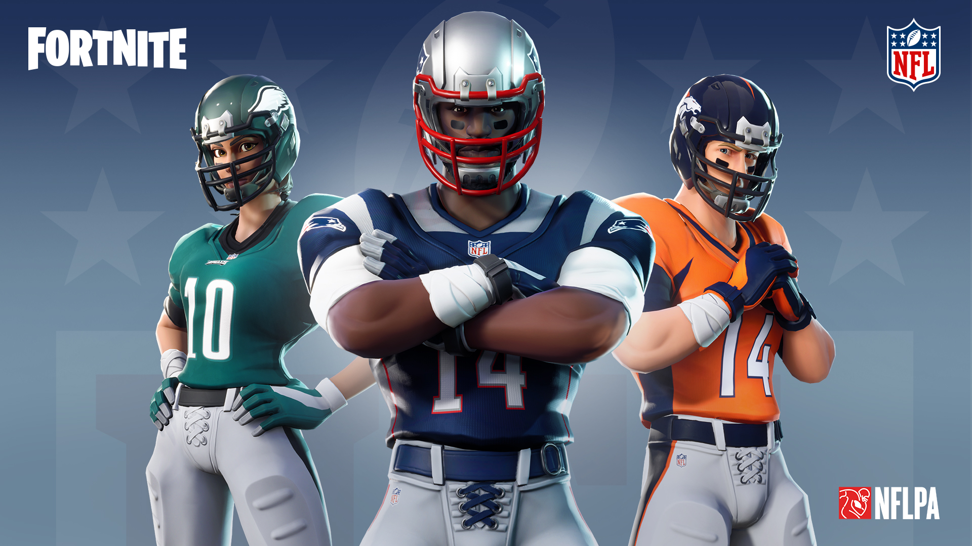 """Epic Games has partnered with the NFL to let Fortnite players buy """"skins"""" featuring uniform jerseys of their favorite football teams."""