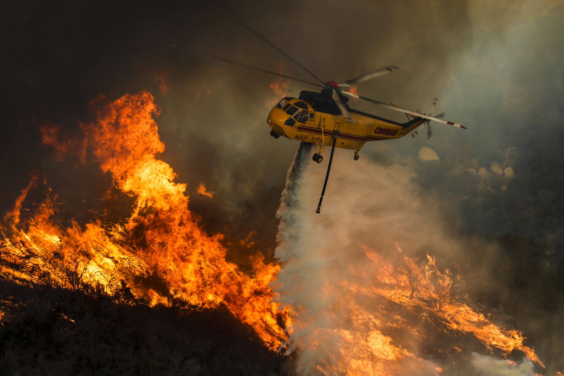 Record Heat Fuels Holy Fire In Southern California, Threatening Homes