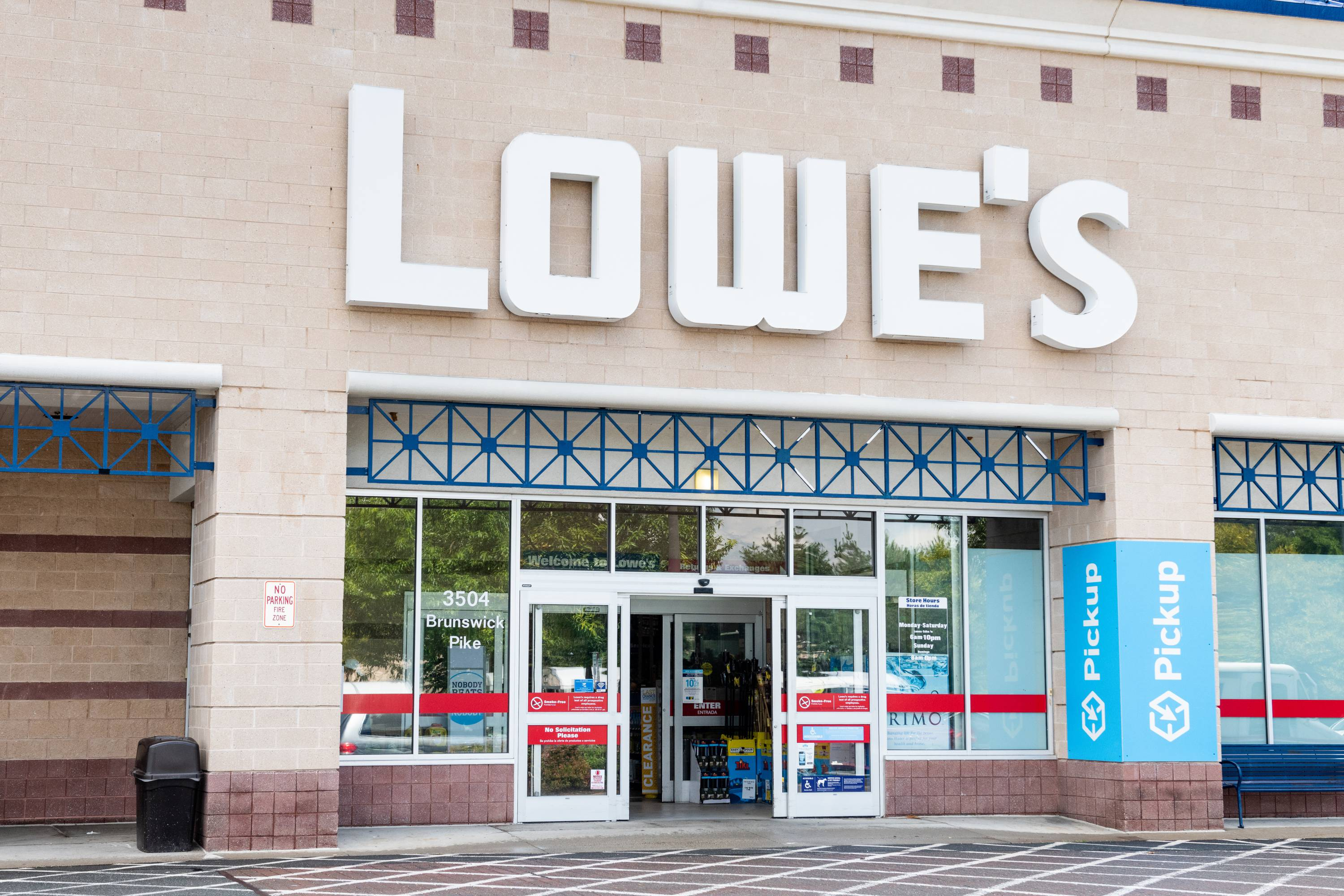 Lowe's Home Improvement store in Princeton, New Jersey on