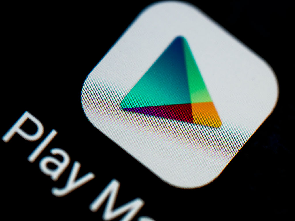 Google Play logo seen displayed on a smart phone