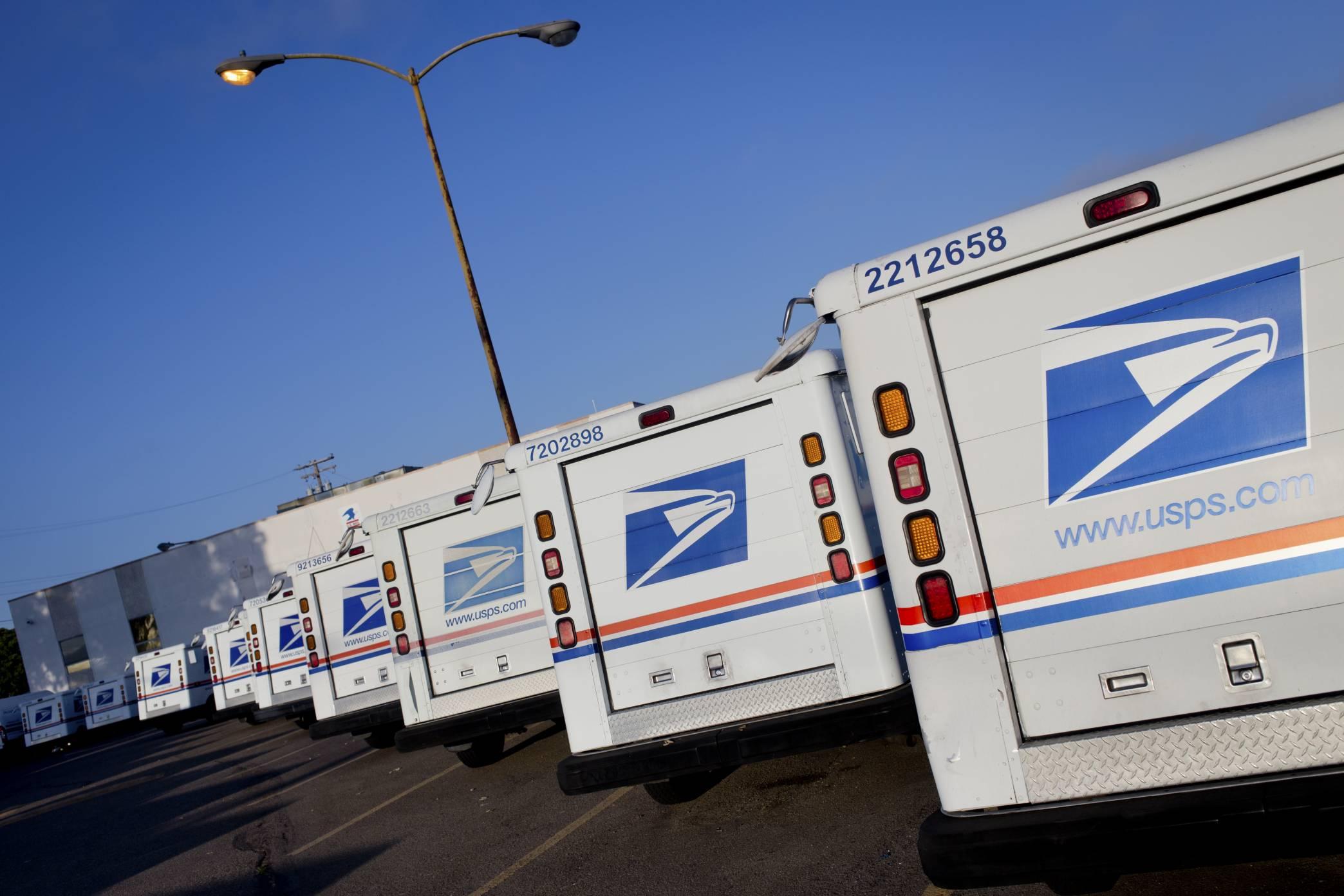 USPS delivery trucks