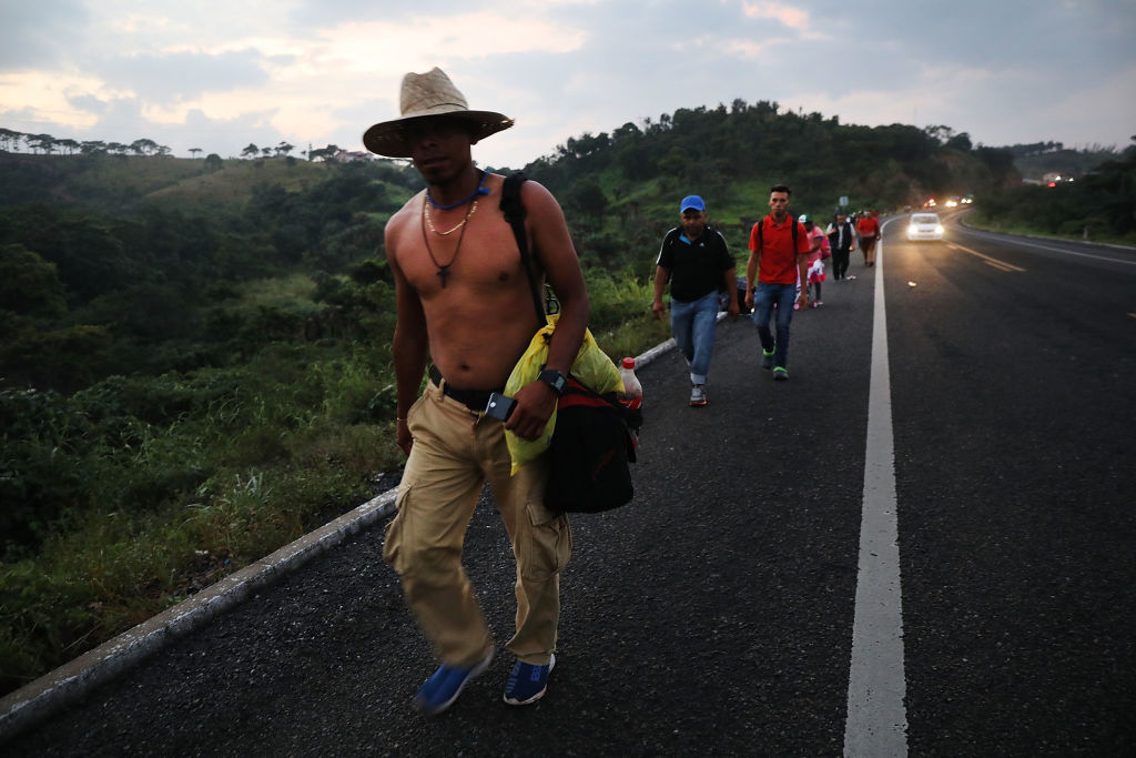 Thousands Of Hondurans In Migrant Caravan Continue March Through Mexico