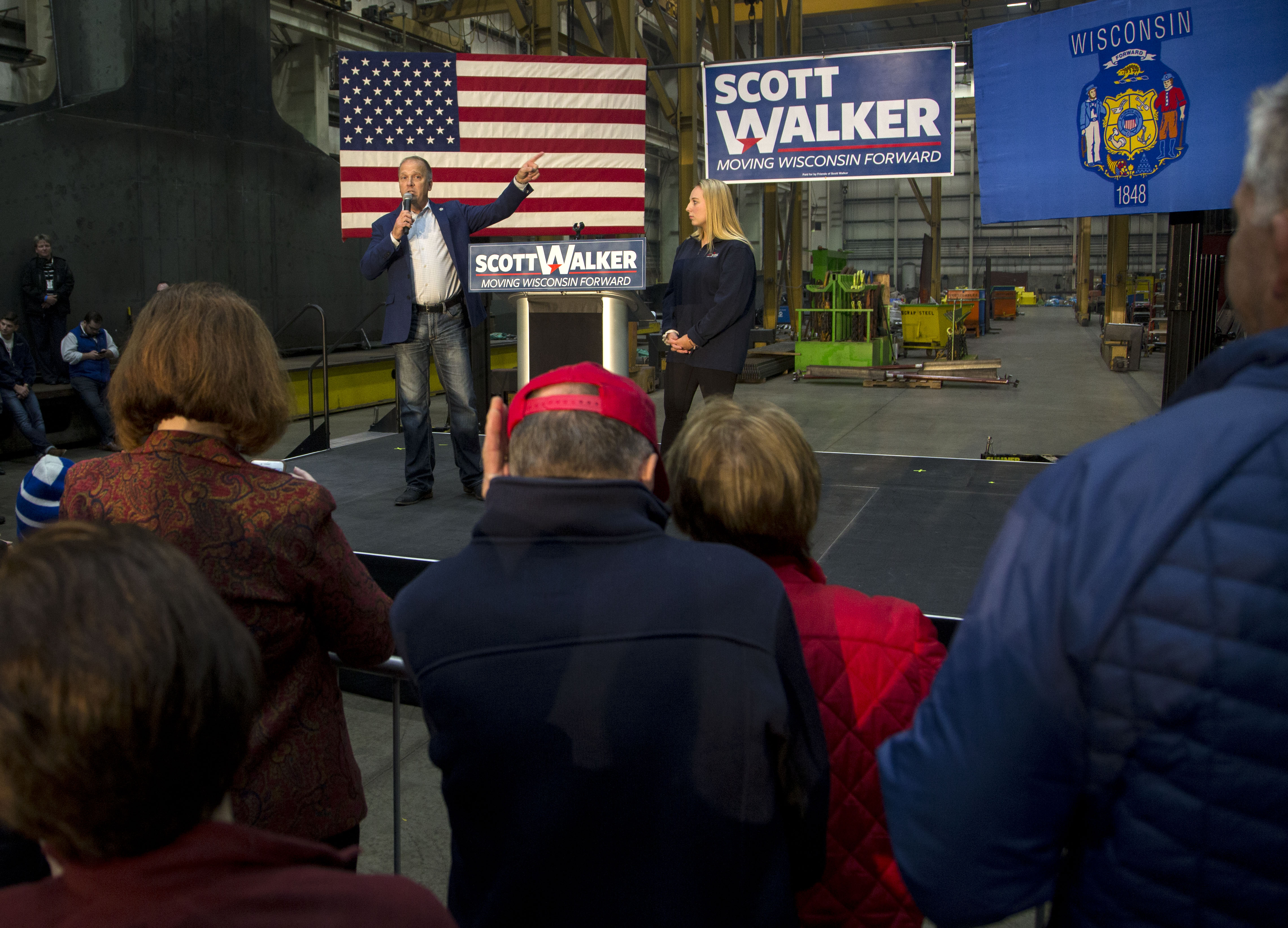 Gubernatorial Candidate Scott Walker Hots GOTV Rally On Eve Of Midterm Election