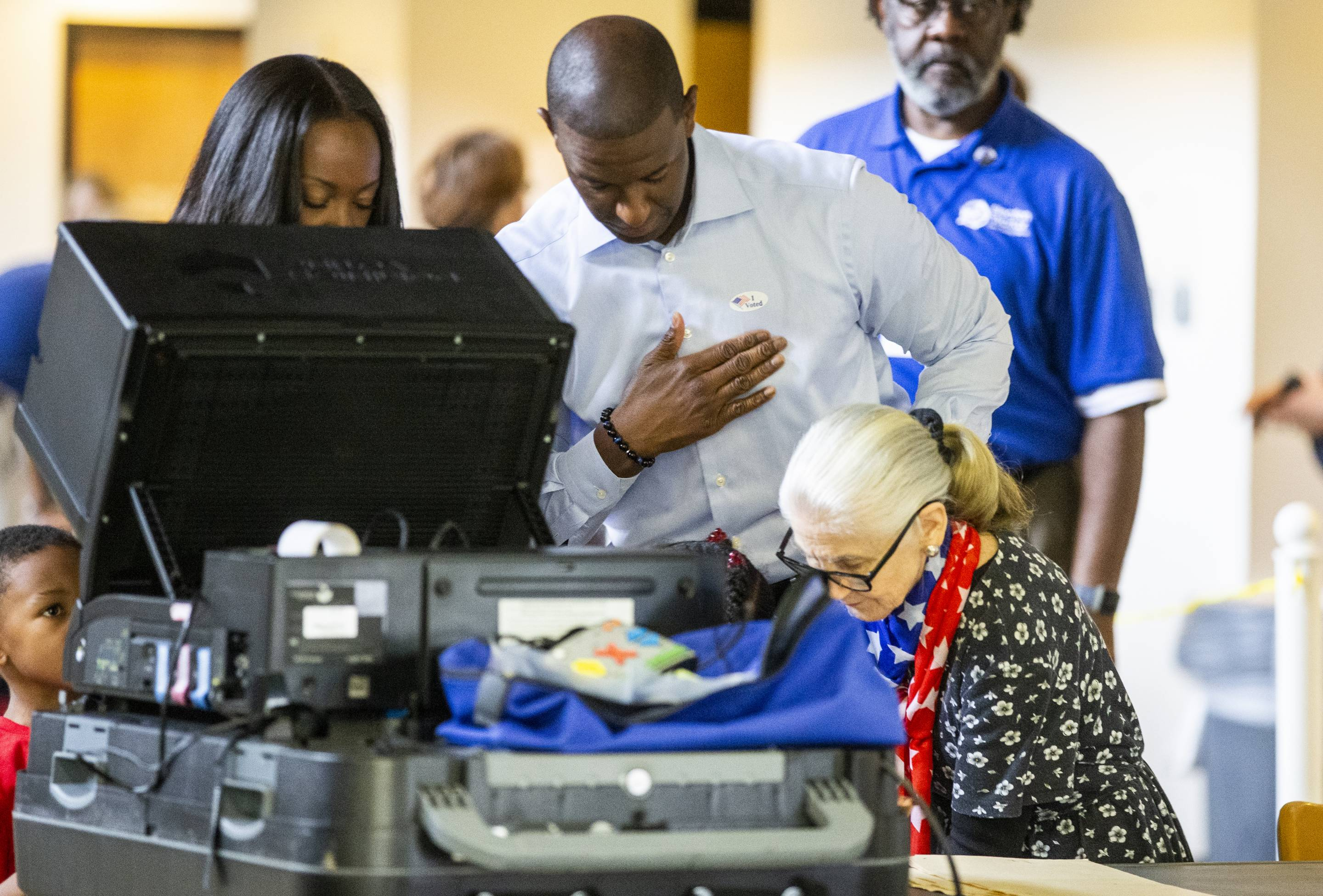 FL Gubernatorial Candidate Andrew Gillum Casts His Vote In Midterm Election
