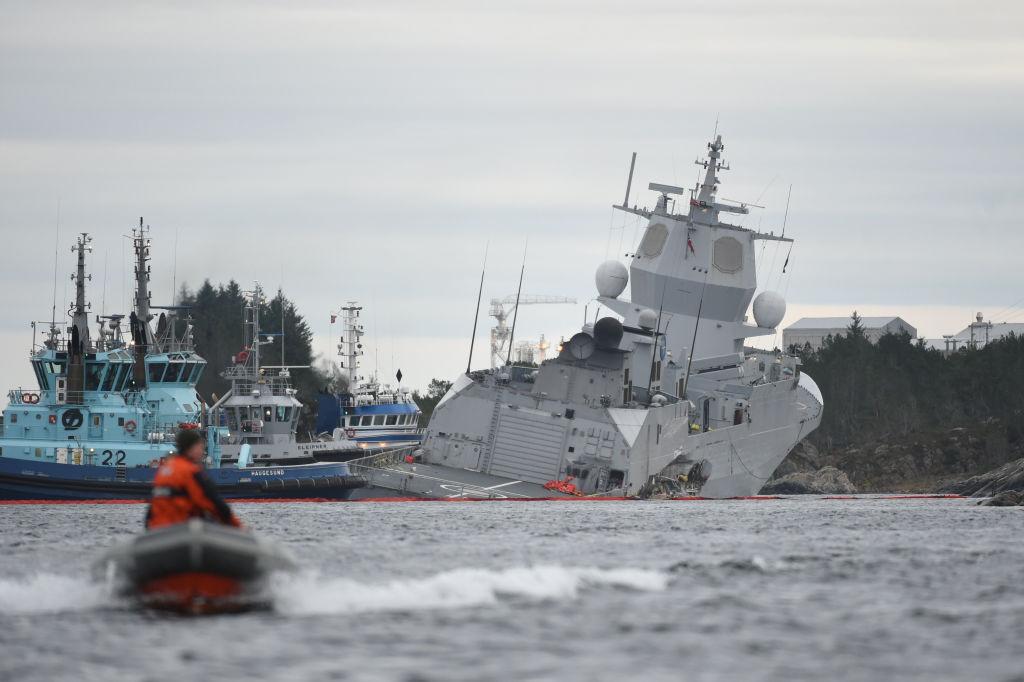 TOPSHOT-NORWAY-NAVY-ACCIDENT