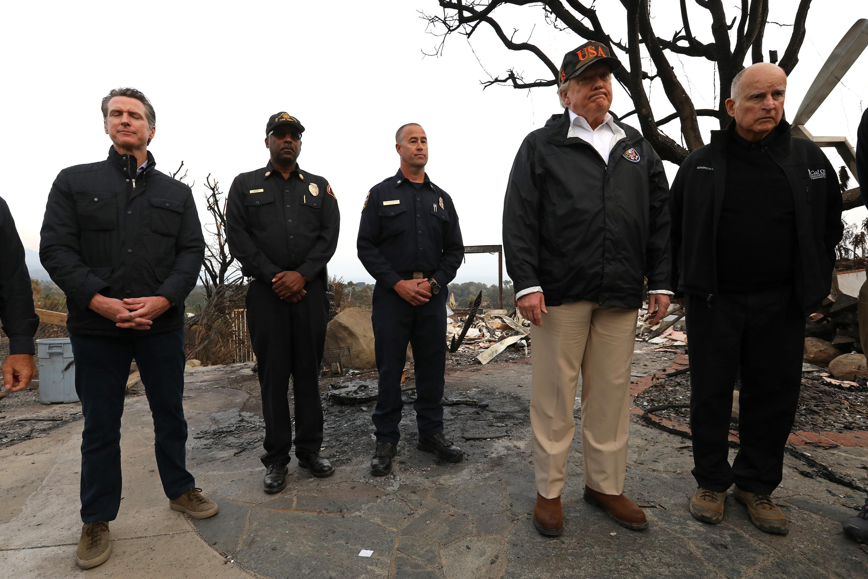 US-POLITICS-FIRES-TRUMP-FORESTS