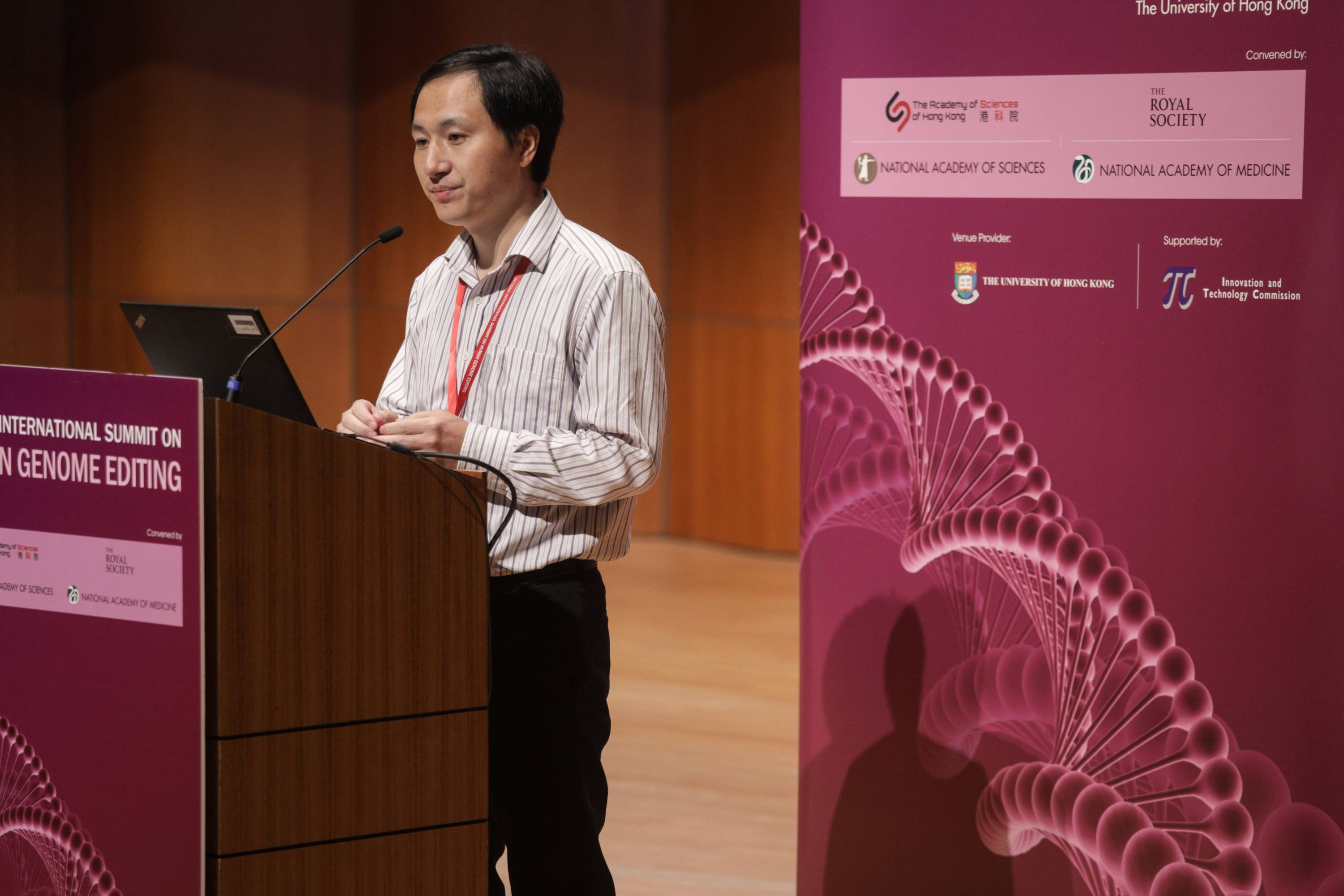 Chinese geneticist He Jiankui of the Southern University of