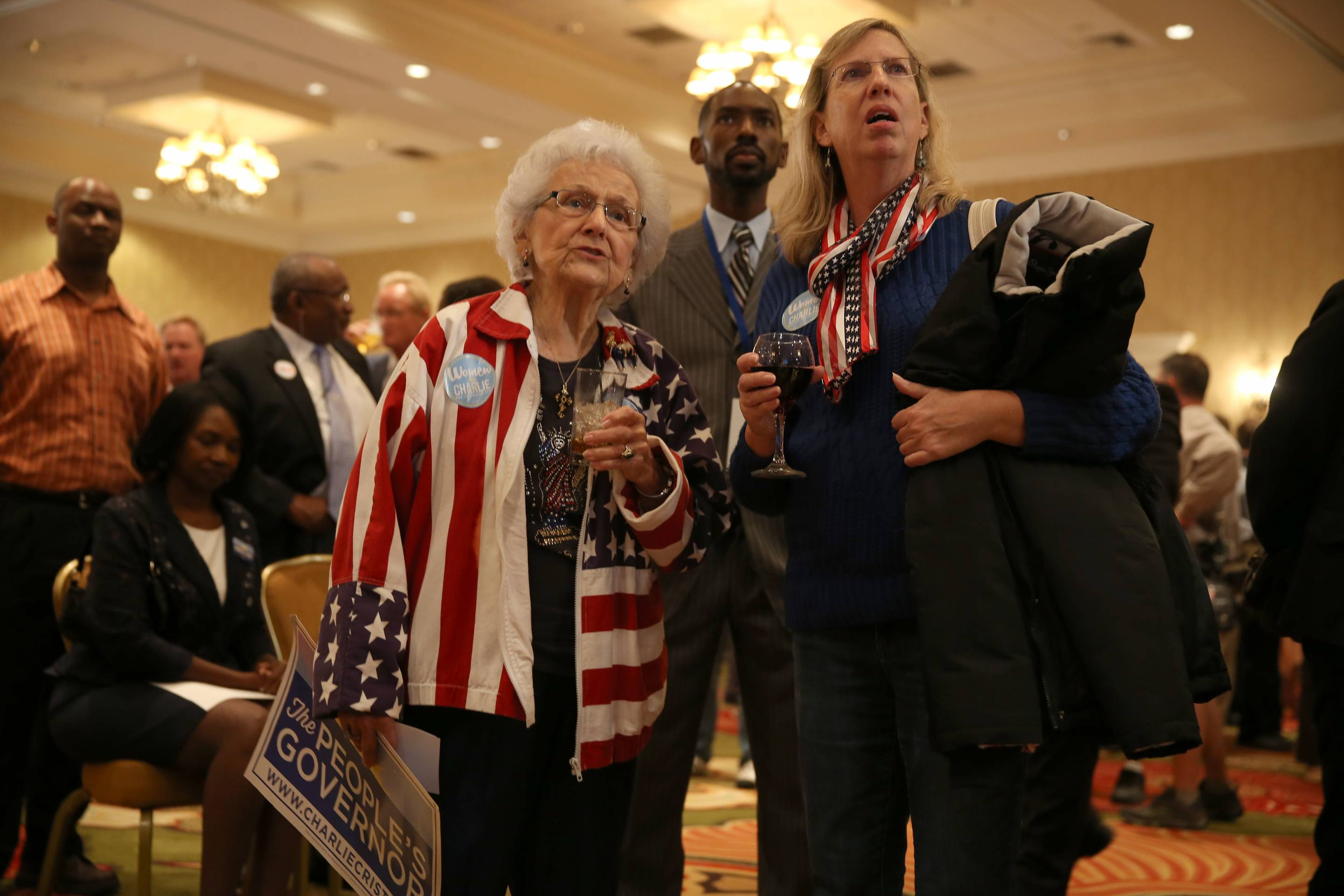Former Florida Gov. And Gubernatorial Candidate Charlie Crist Attends Election Night Rally