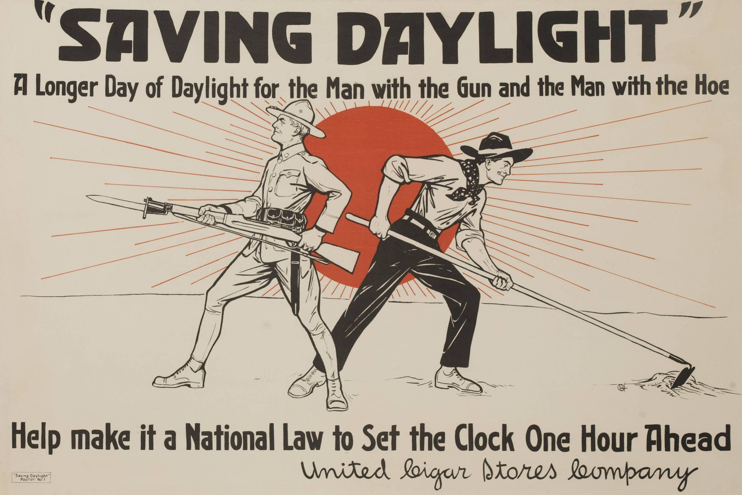 Saving Daylight, A longer day for the man with the gun and the man with the hoe.