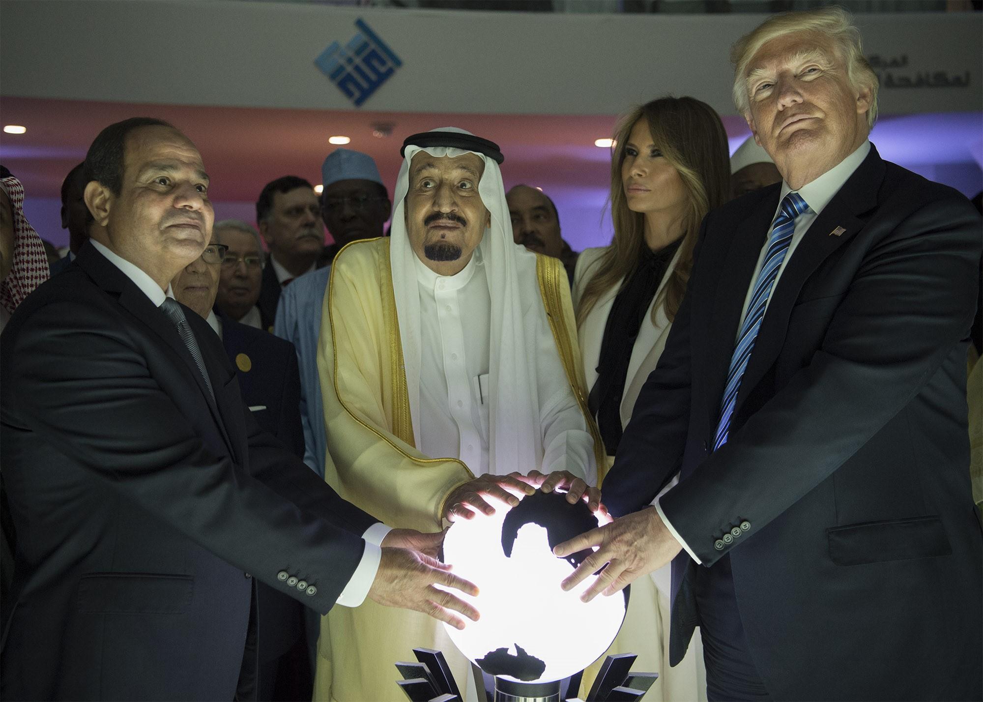 US President Trump in Saudi Arabia