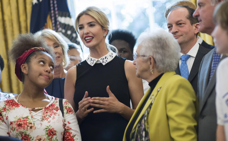President Trump signs a memorandum expanding STEM Education access at the White House
