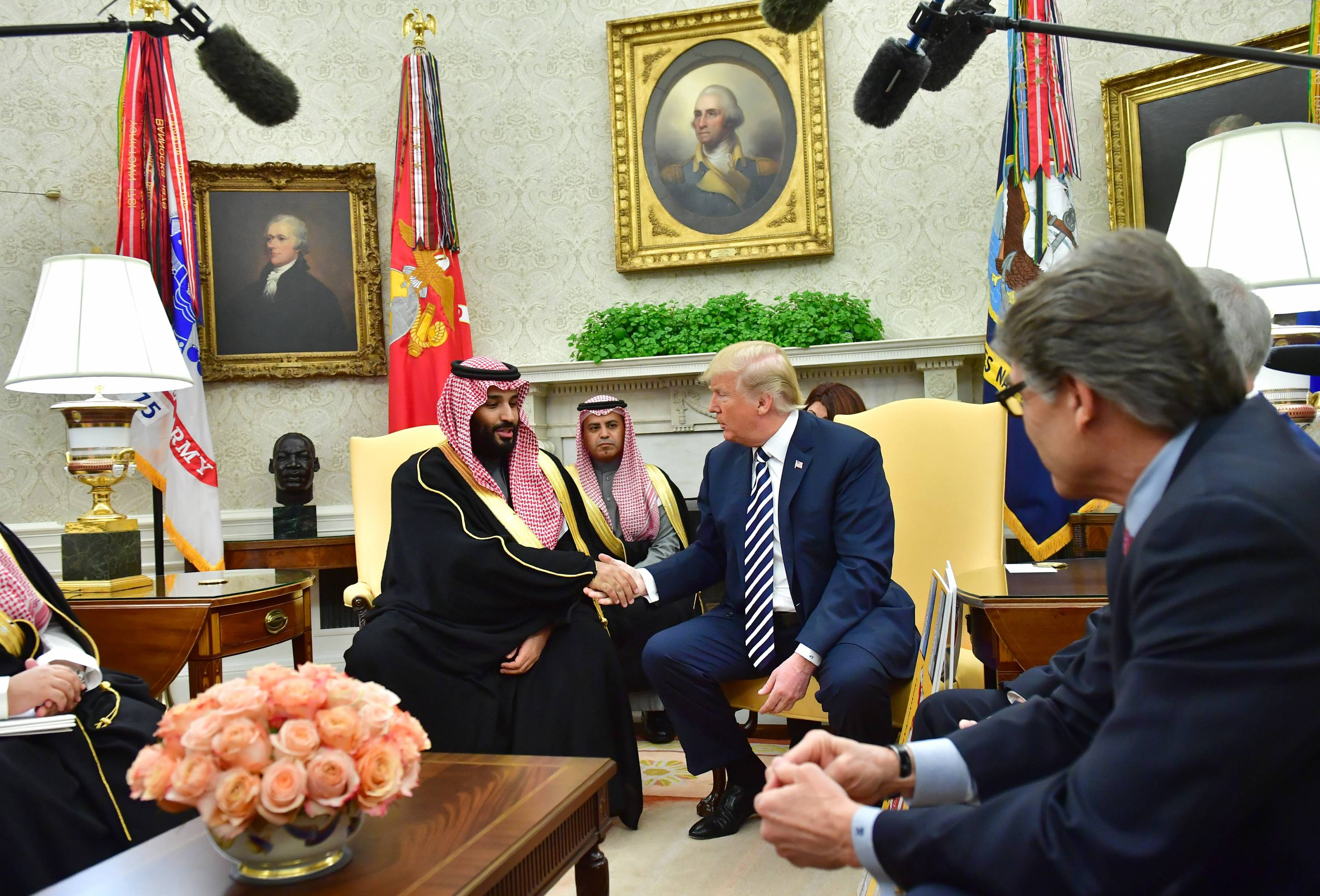President Trump Hosts Crown Prince Mohammad Bin Salman Of Saudi Arabia To White House