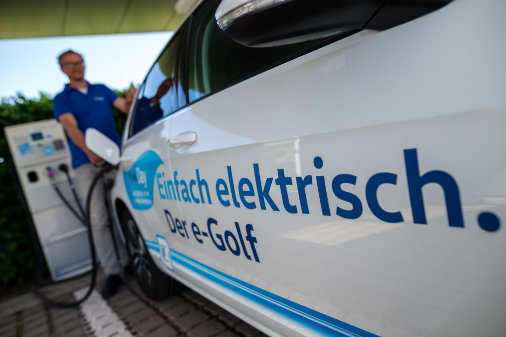 Volkswagen E-Golf Electric Car Production In Dresden