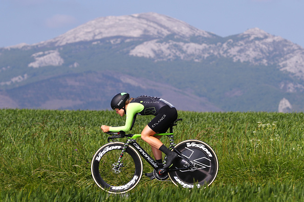 VITORIA-GASTEIZ, SPAIN - MAY 20: Lauren Stephens of The United States and Team Cylance Pro Cycling / during the 31st Women WT Emakumeen. Bira 2018, Stage 2 a 26,6km Individual Time Trial stage from Vitoria-Gasteiz to Vitoria-Gasteiz on May 20, 2018 in Vitoria-Gasteiz, . (Photo by Michael Steele/Getty Images)