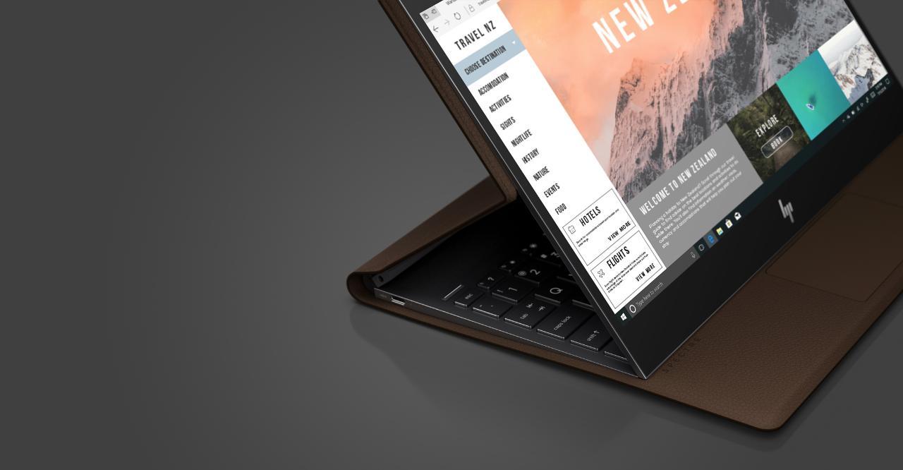 HP Spectre Folio convertible laptop.