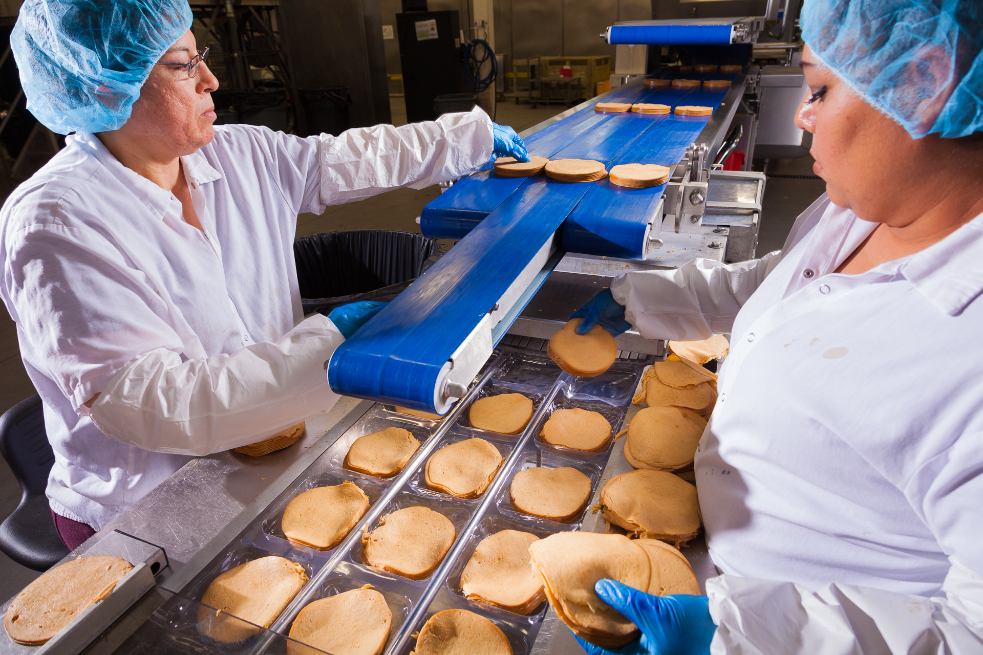 """Deli slices"" processing at Tofurky processing facility in Hood River, Oregon"