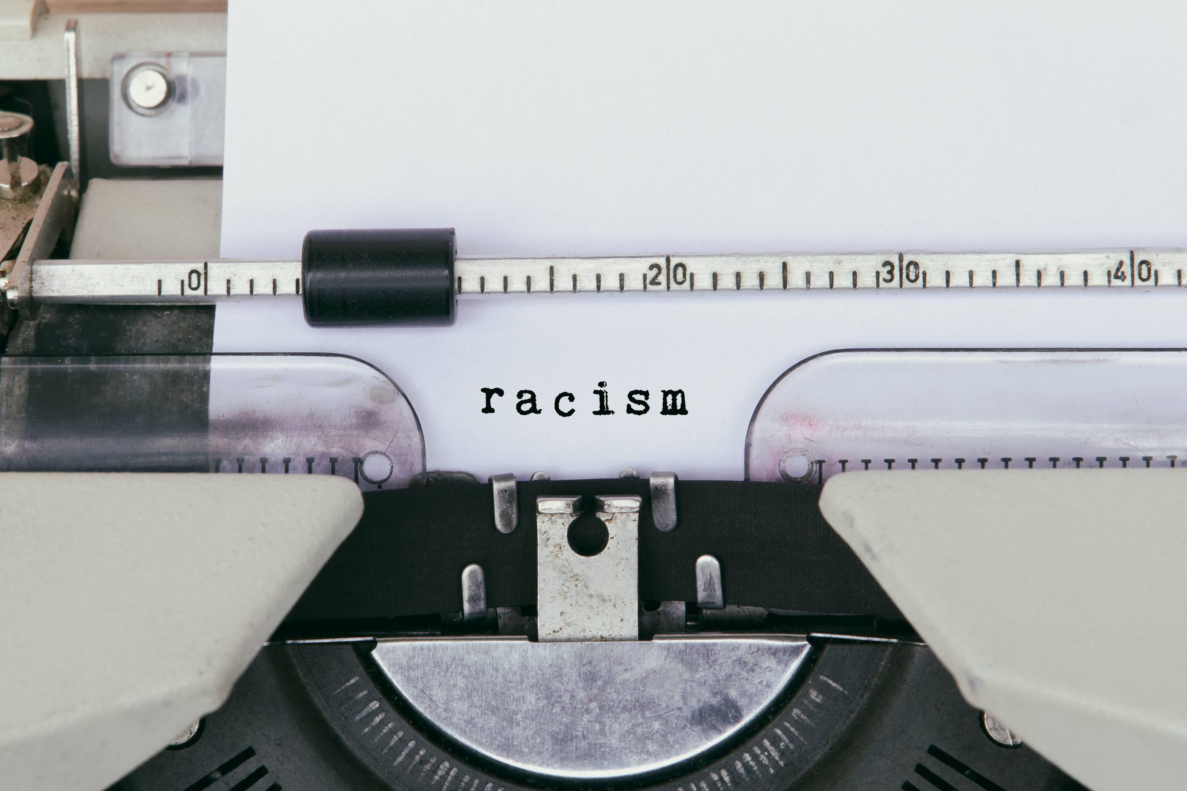 Racism Typed on Vintage Typewriter