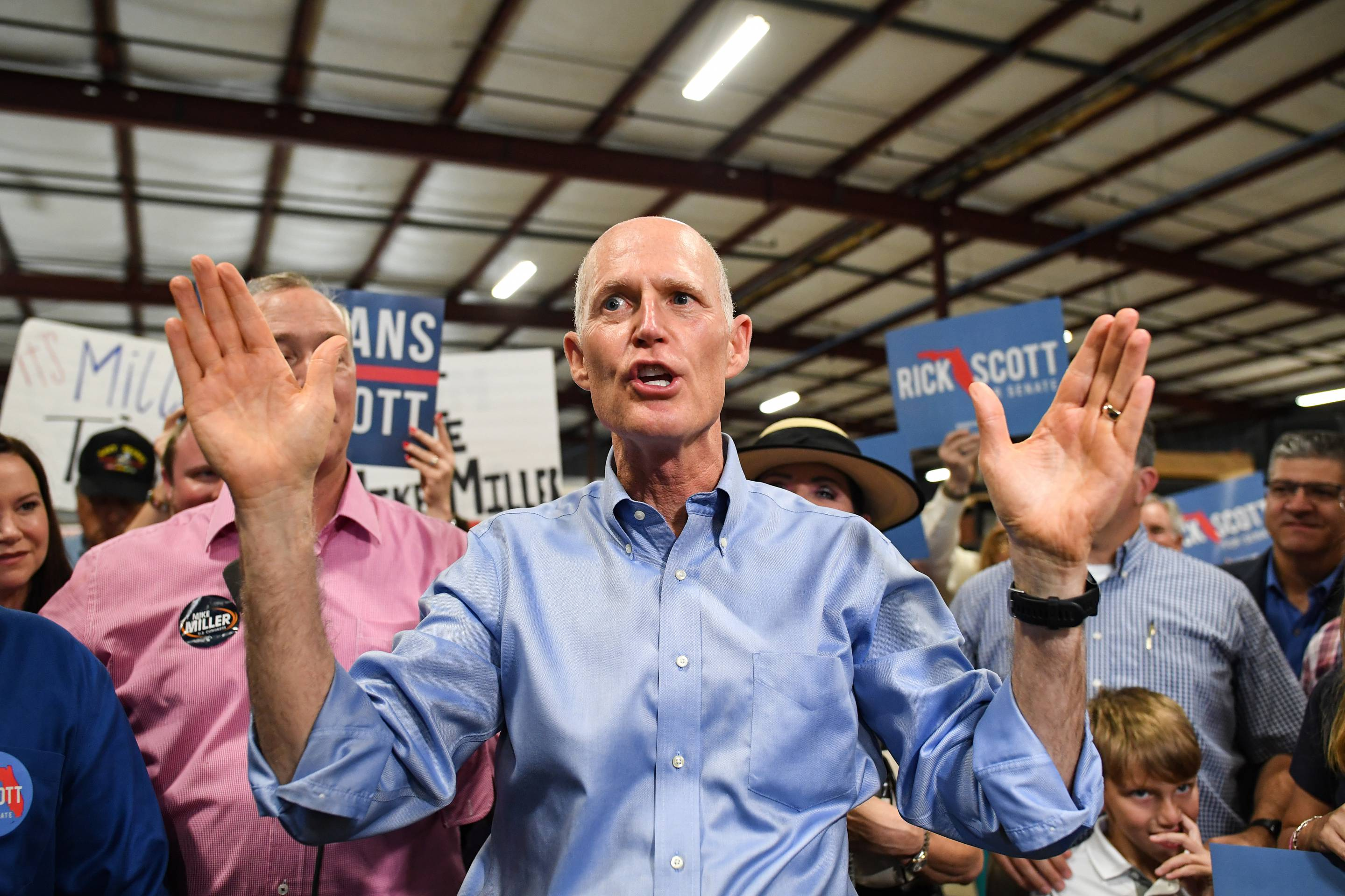 Florida Senate Candidate Rick Scott Attends Get Out Rally In Orlando