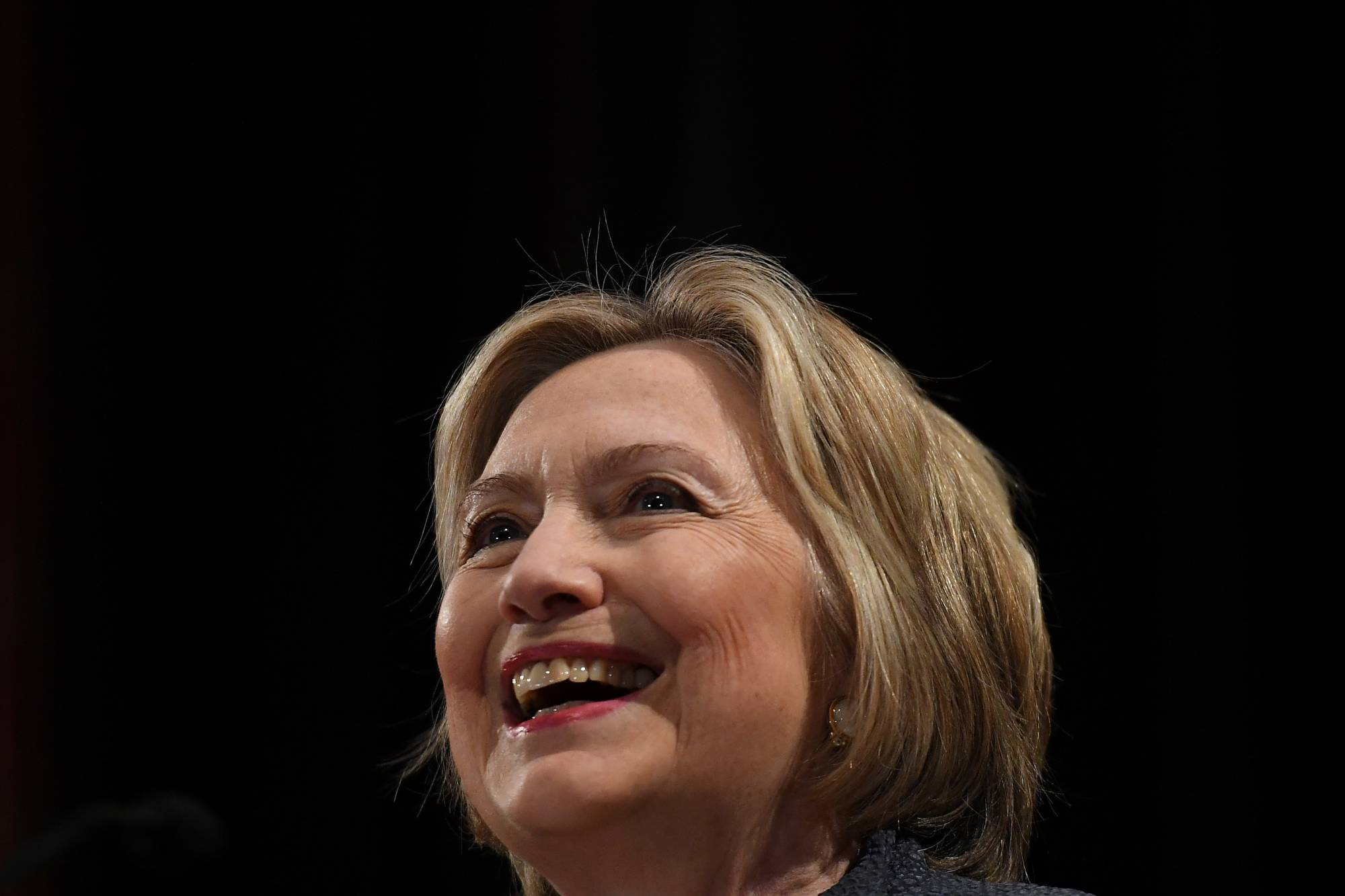 Former US Secretary of State Hillary Clinton gives a public lecture at Trinity College Dublin