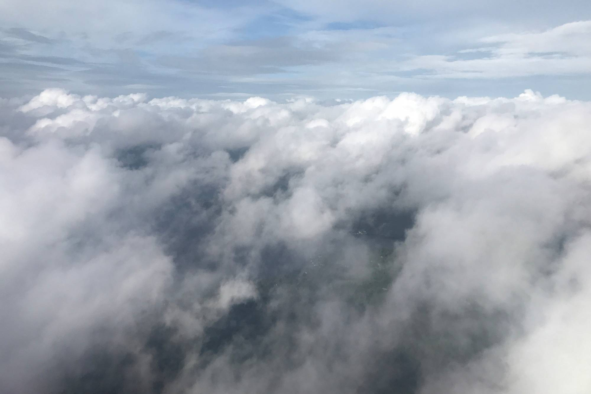 Storm clouds form before Hurricane Michael comes ashore as pictured from an airplane in Tallahassee