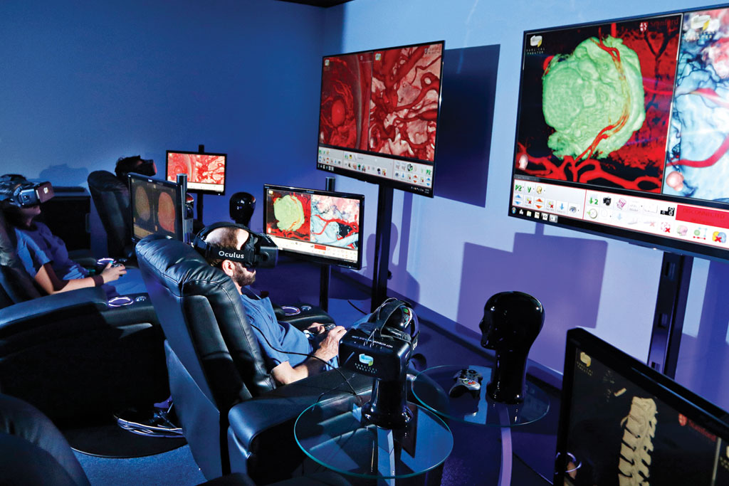 Stanford Medicine's Neurosurgical Sim­ulation Center is home to a cutting-edge training program involving virtual reality.