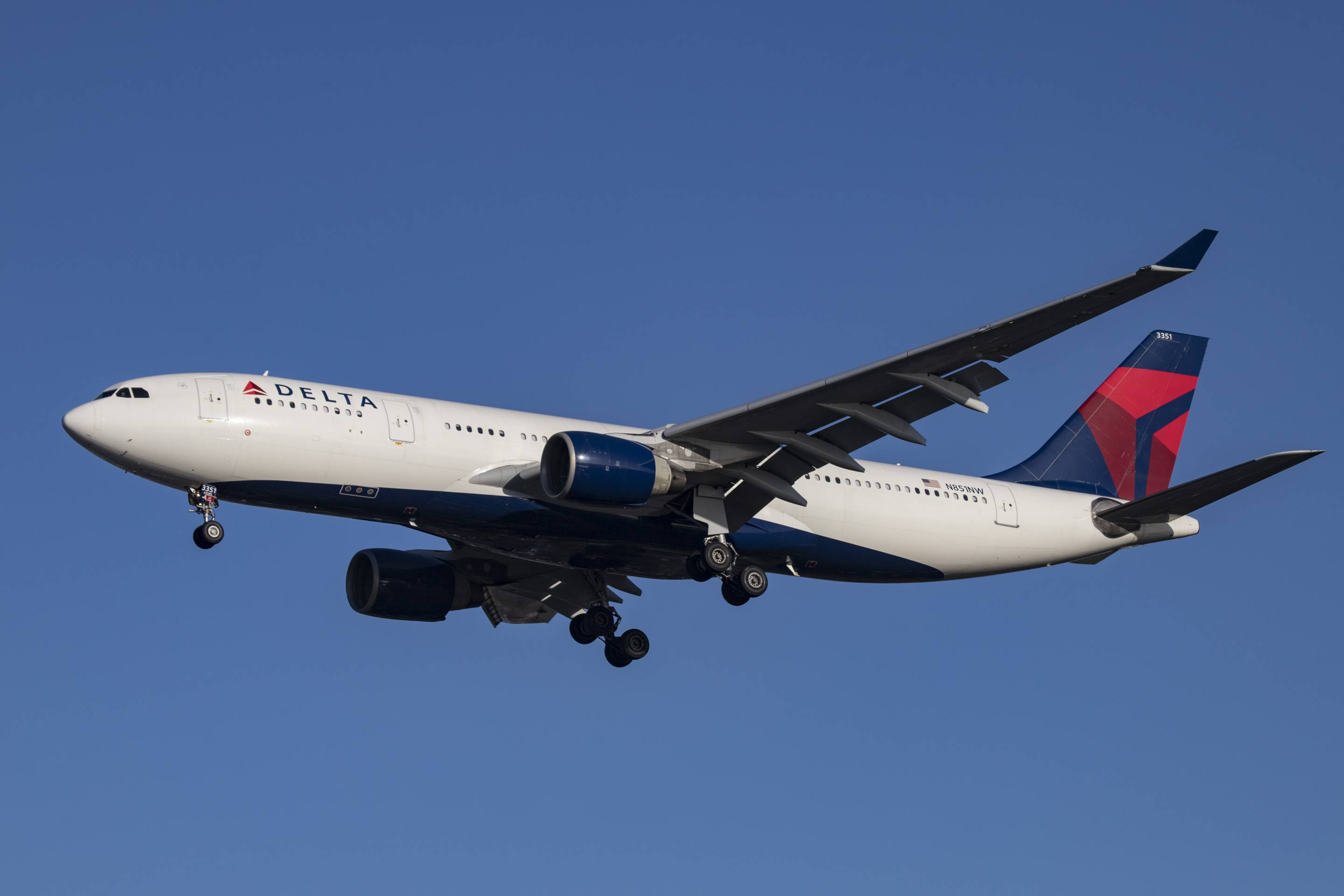Delta Airlines Airbus A330-200 airplane with registration