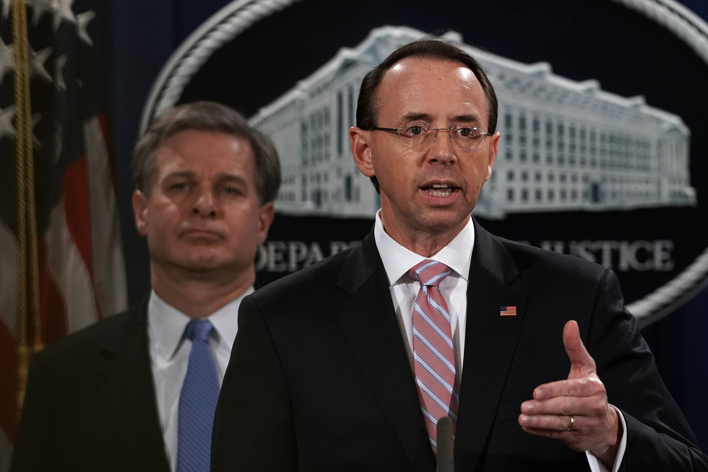 Deputy AG Rod Rosenstein Announces Law Enforcement Action Related To China
