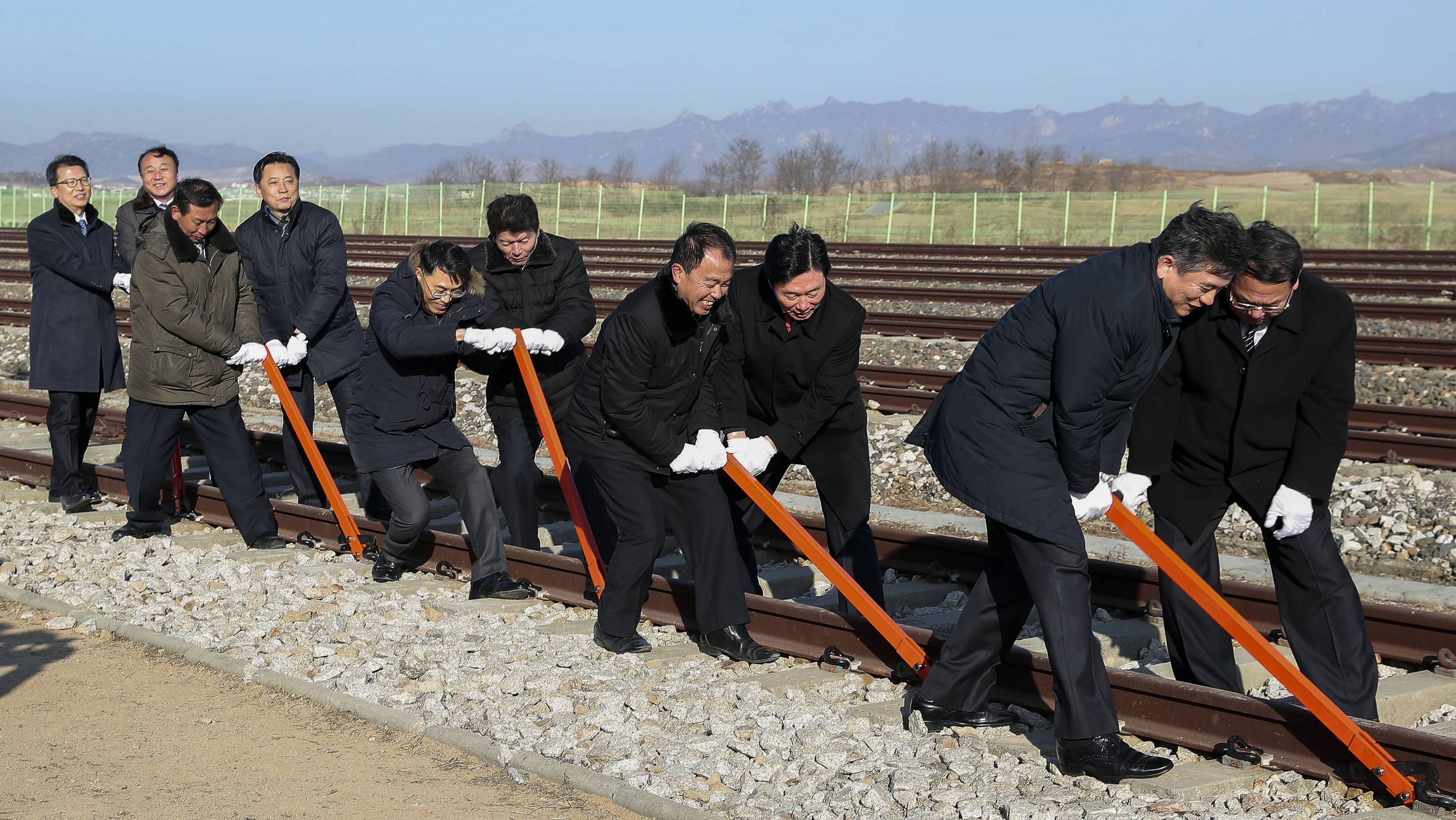 Groundbreaking Ceremony For Inter-Korean Railway And Road Project