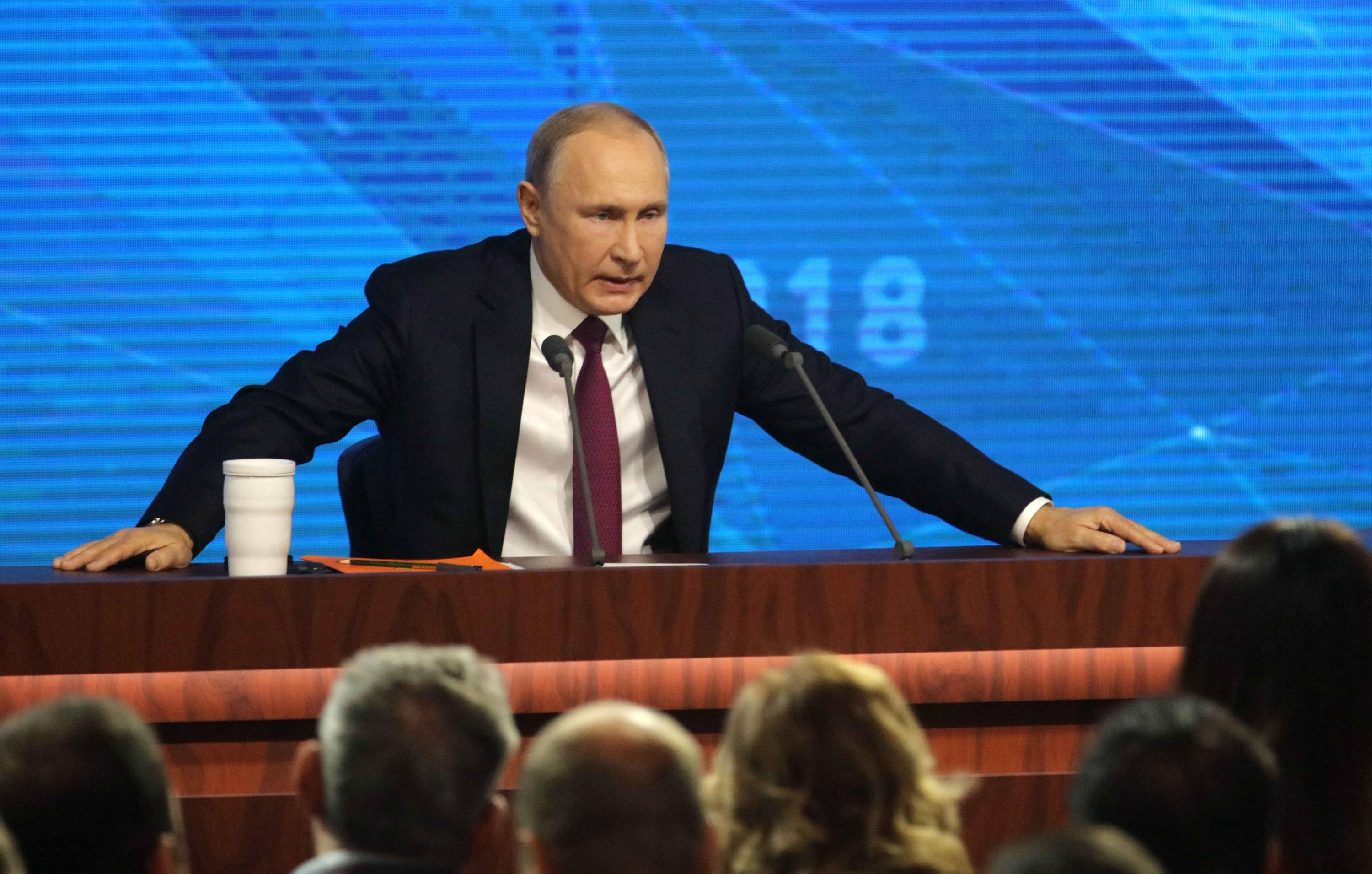 Russian President Vladimir Putin Holds Annual Press Conference In Moscow