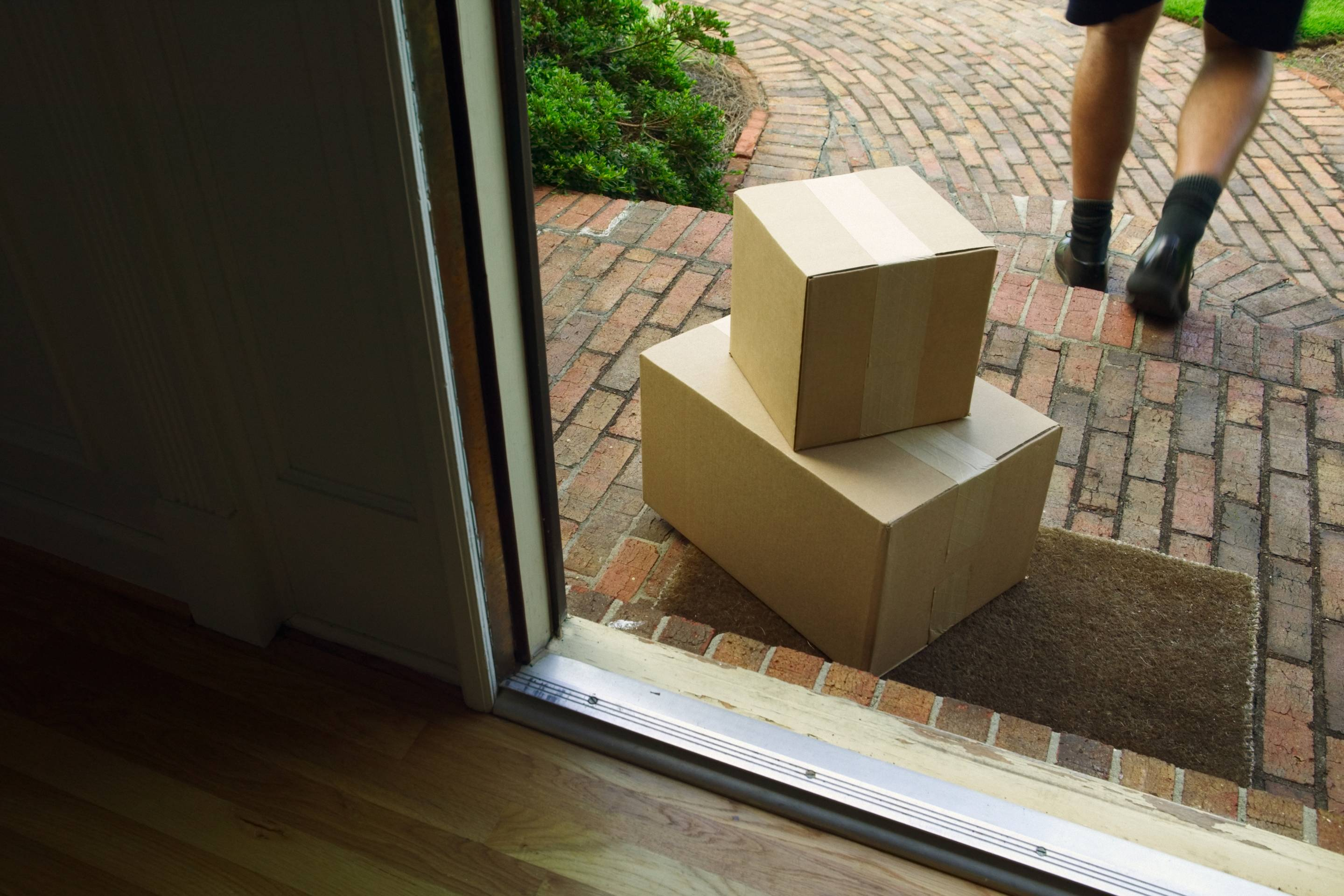 Packages on Porch