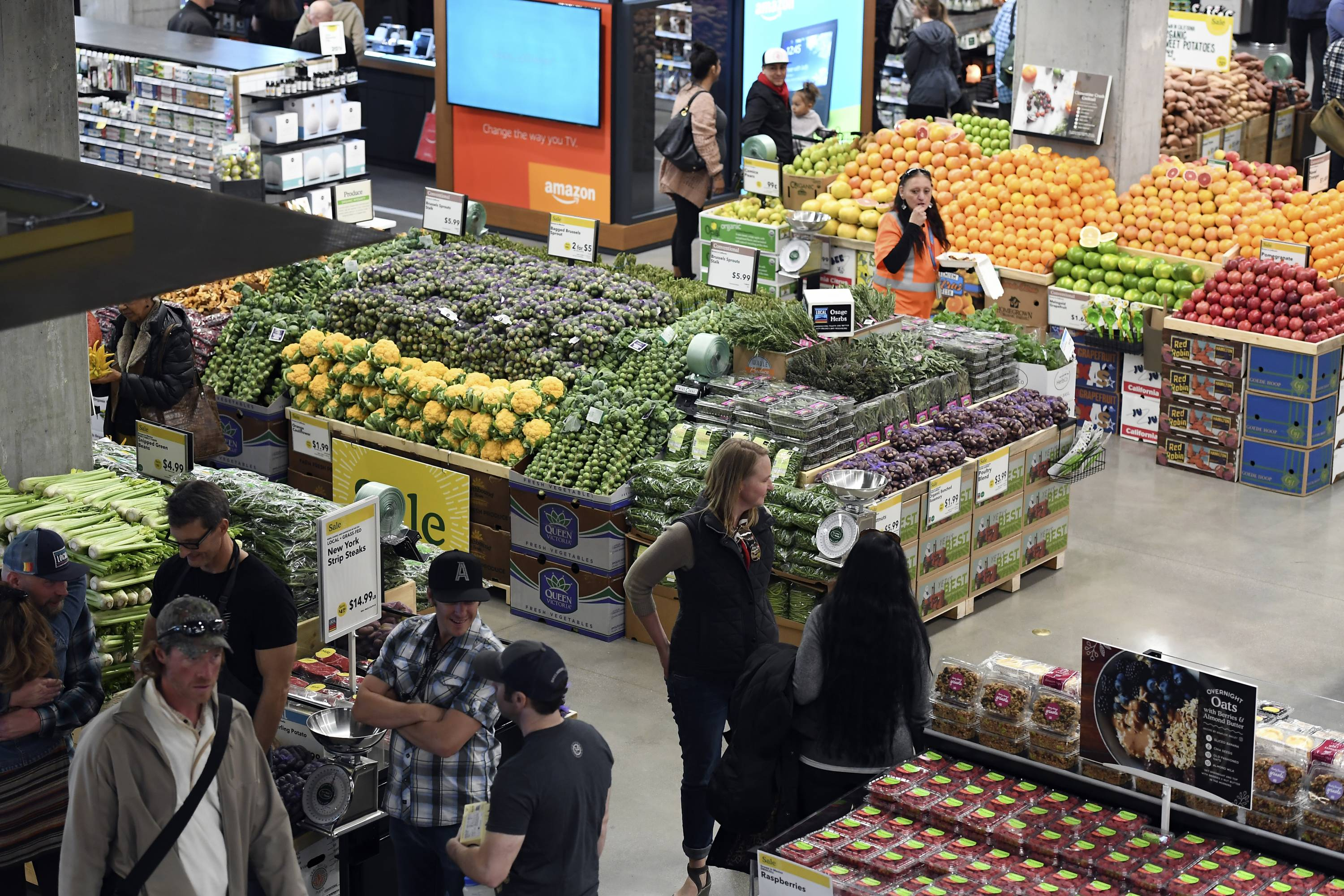 Whole Foods on Union Station welcomed its first official shoppers