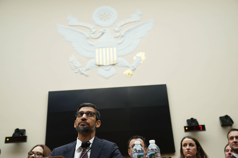 Google CEO Sundar Pichai testifies before the House Judiciary Committee on Dec. 11, 2018.