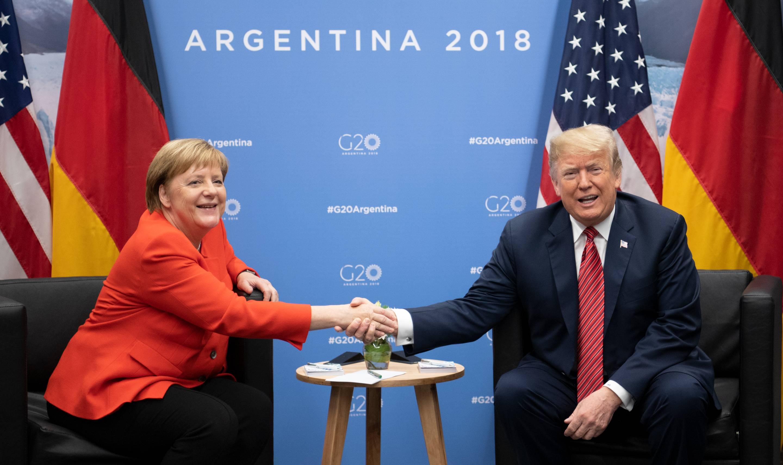 G20 Summit in Argentina - Merkel and Trump