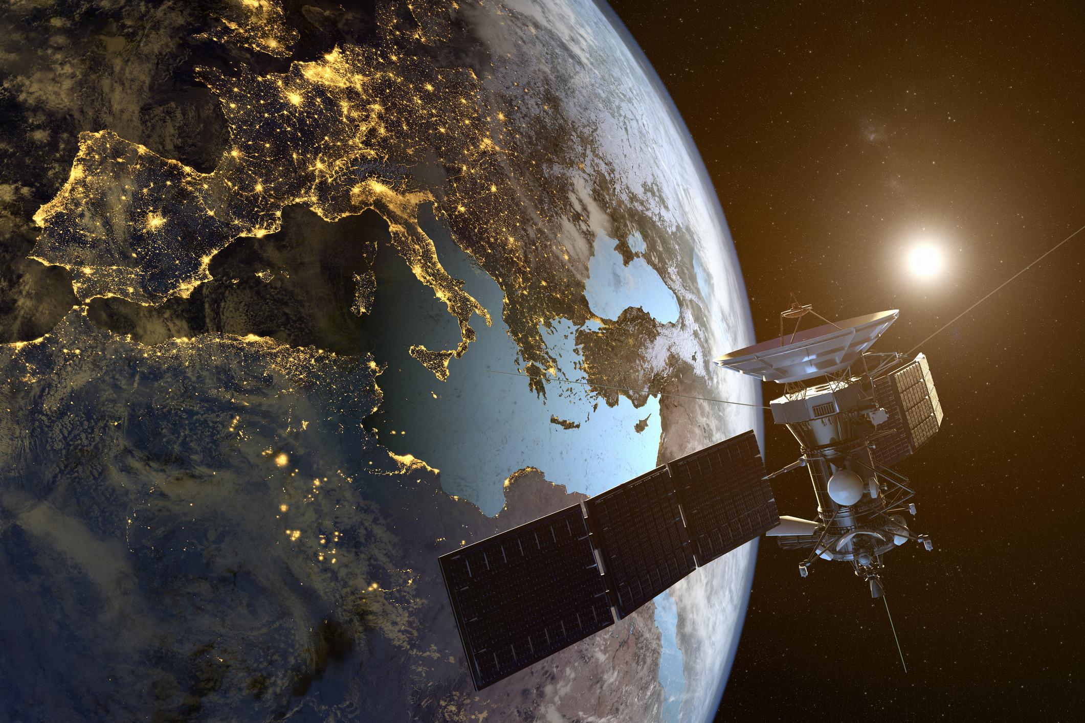 Satellite Against Earth
